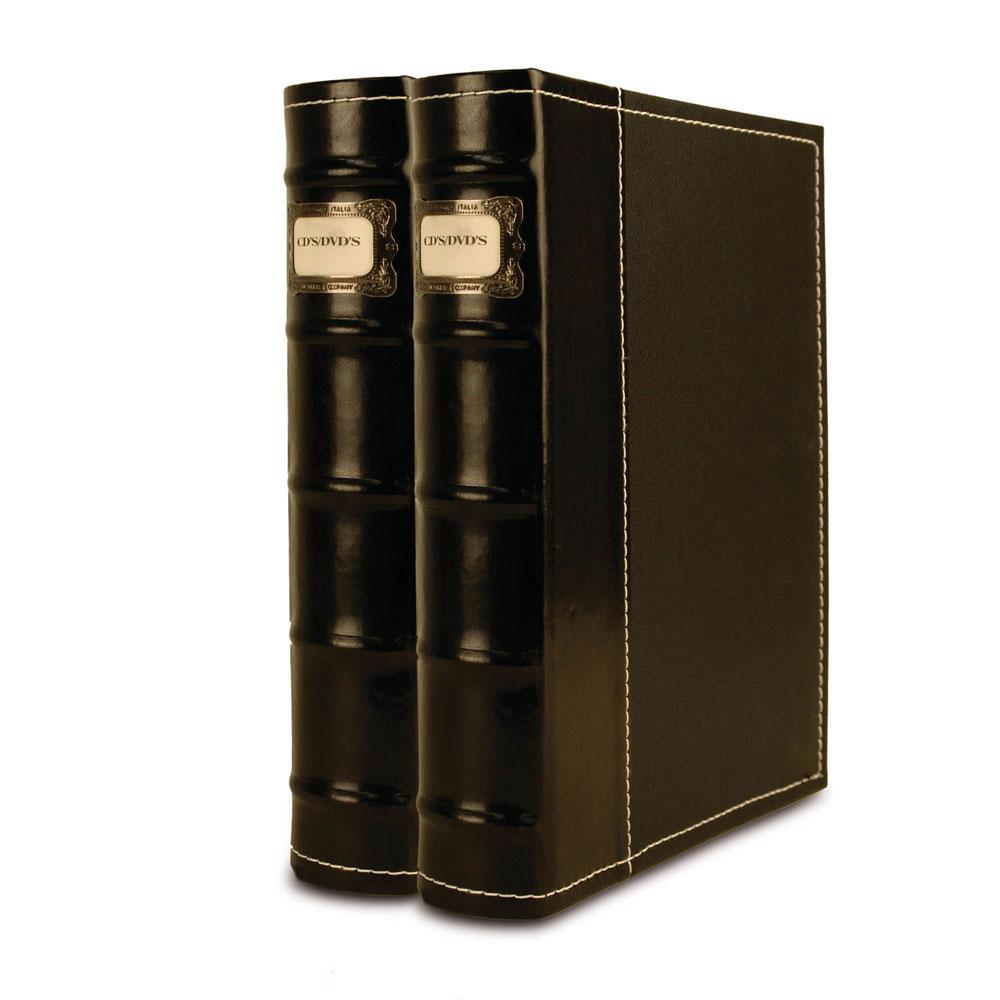 Bellagio-Italia 2 Black CD/DVD Storage Binders