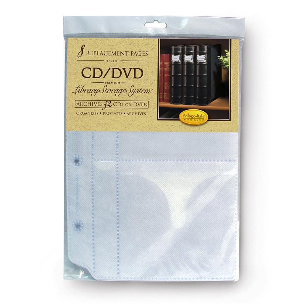 Bellagio-Italia DVD Storage Binder Inserts- 8 Pages