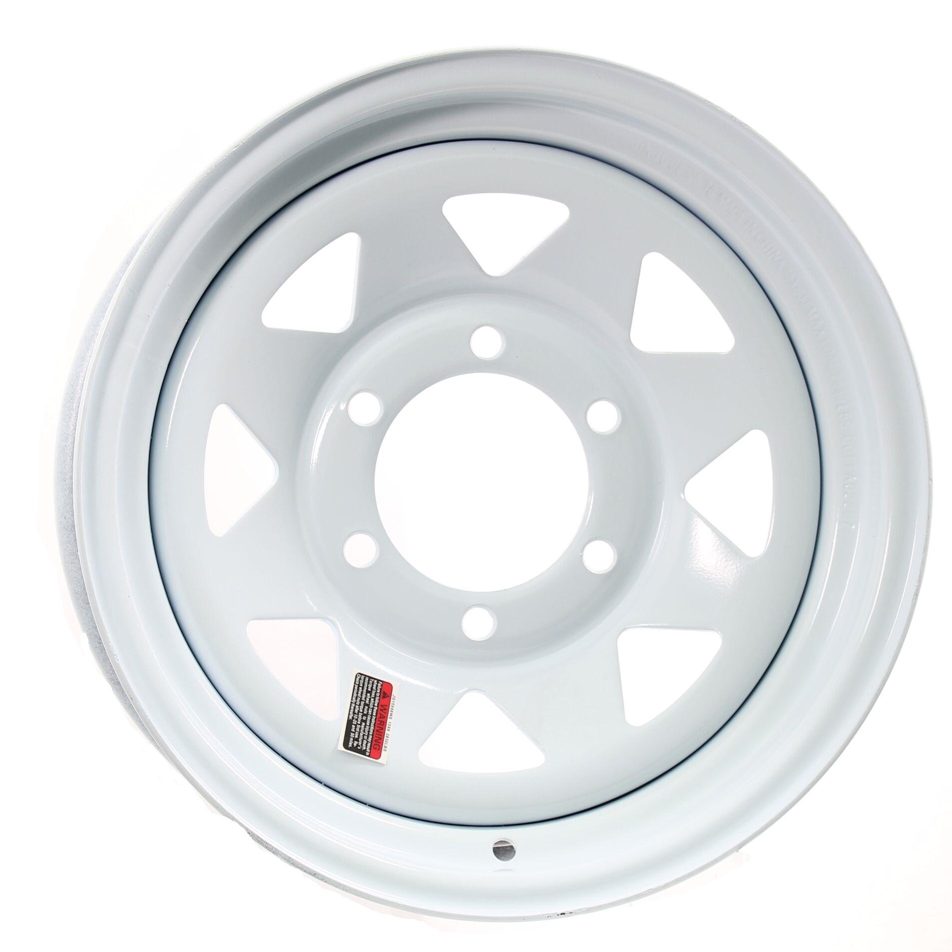 6-5.5 Bolt Circle 15 x 6 Silver Modular Trailer Wheel
