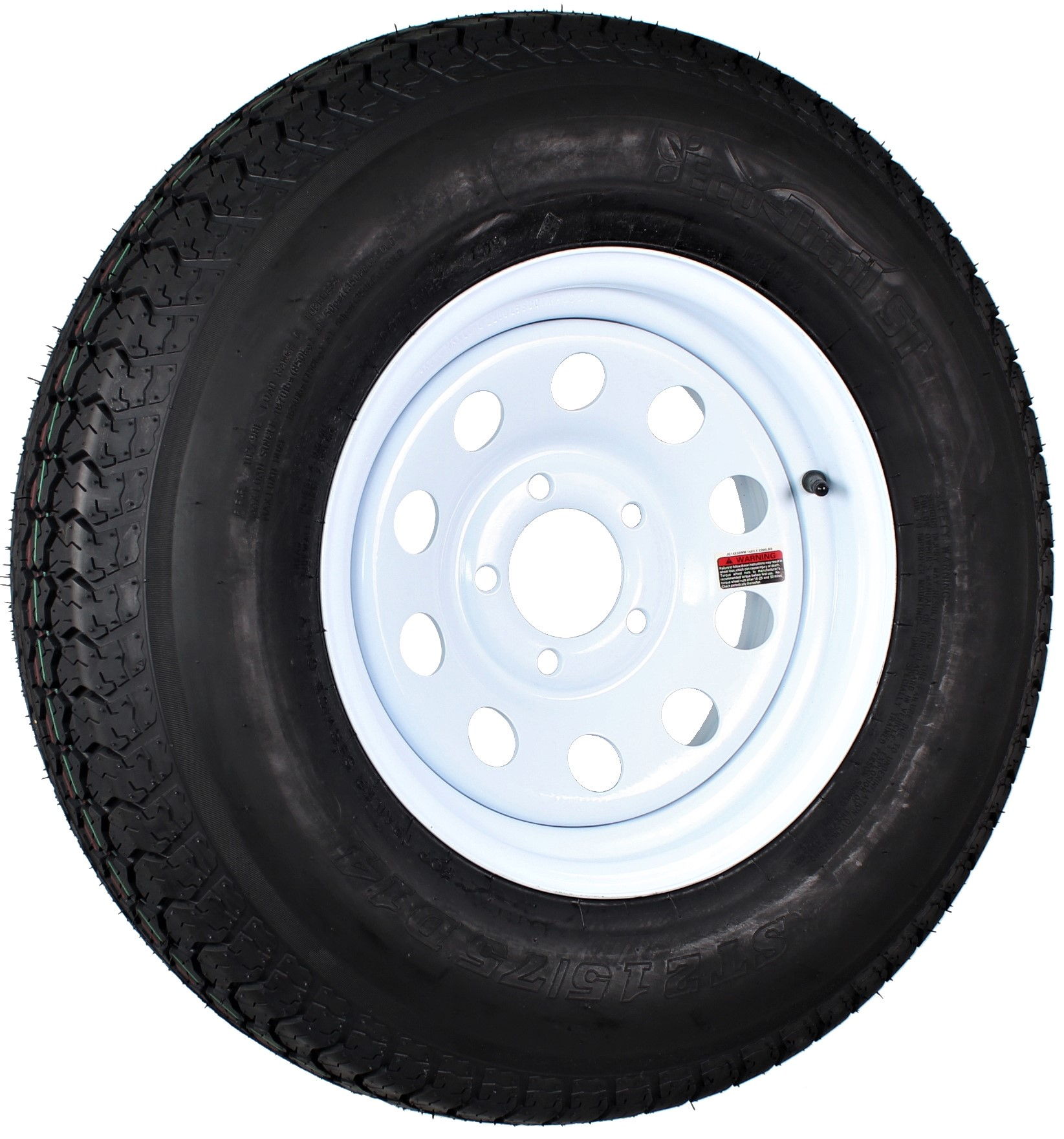 Trailer Tire Rim ST205//75D14 2057514 F78-14 14 in LRC 5 Lug Wheel White Spoke