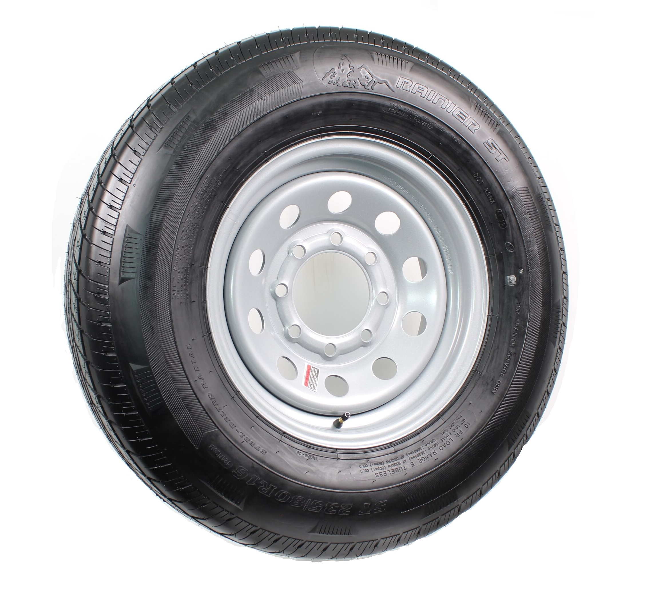 Silver 1//2 in 2-Pack Trailer Rims 16x6 16 x 6 in Offset Modular Hole 6.5 in
