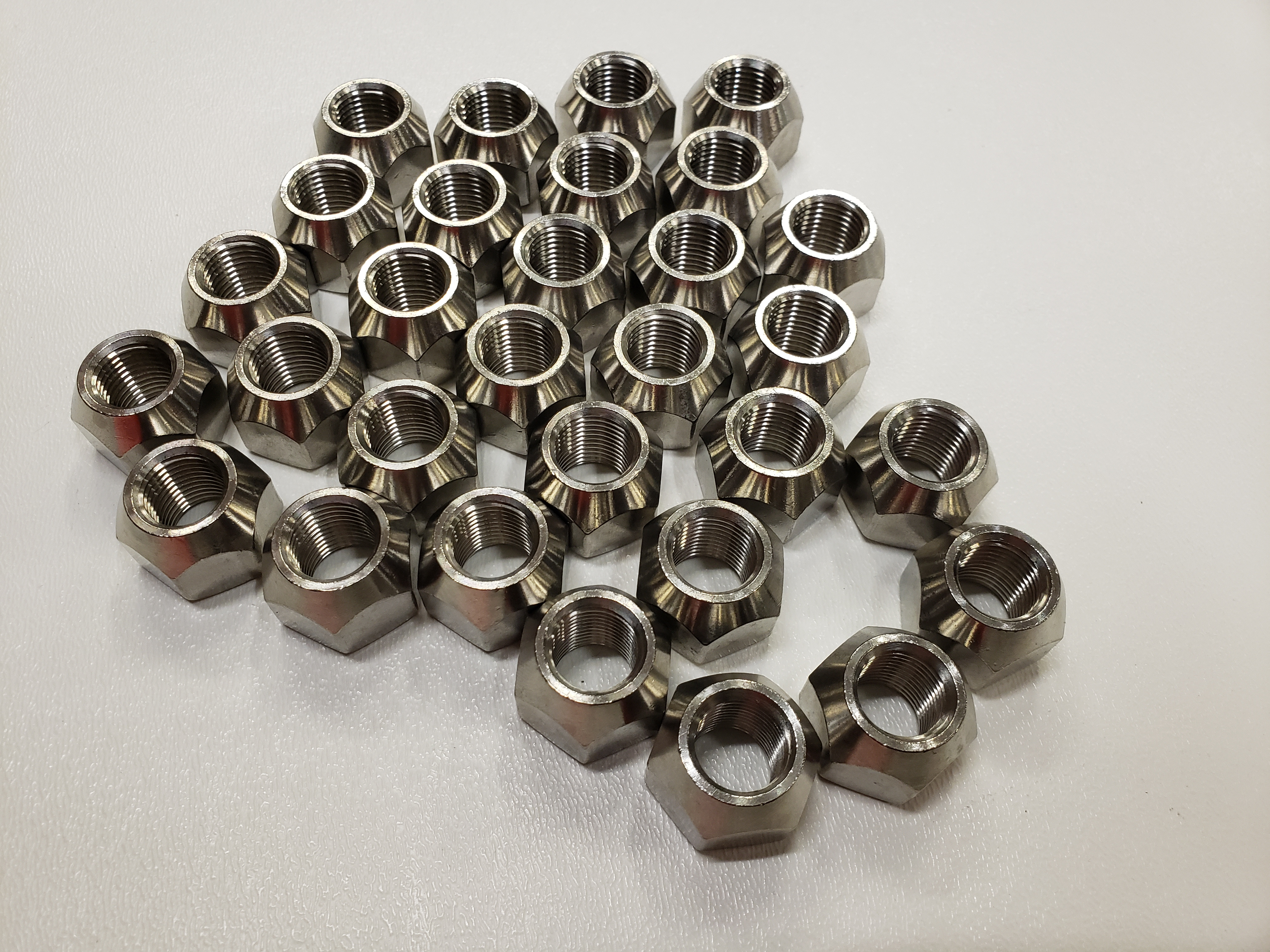 Pack Solid 304 Stainless Steel 1//2-20 Lug Nuts For Trailer Wheel Twenty 20