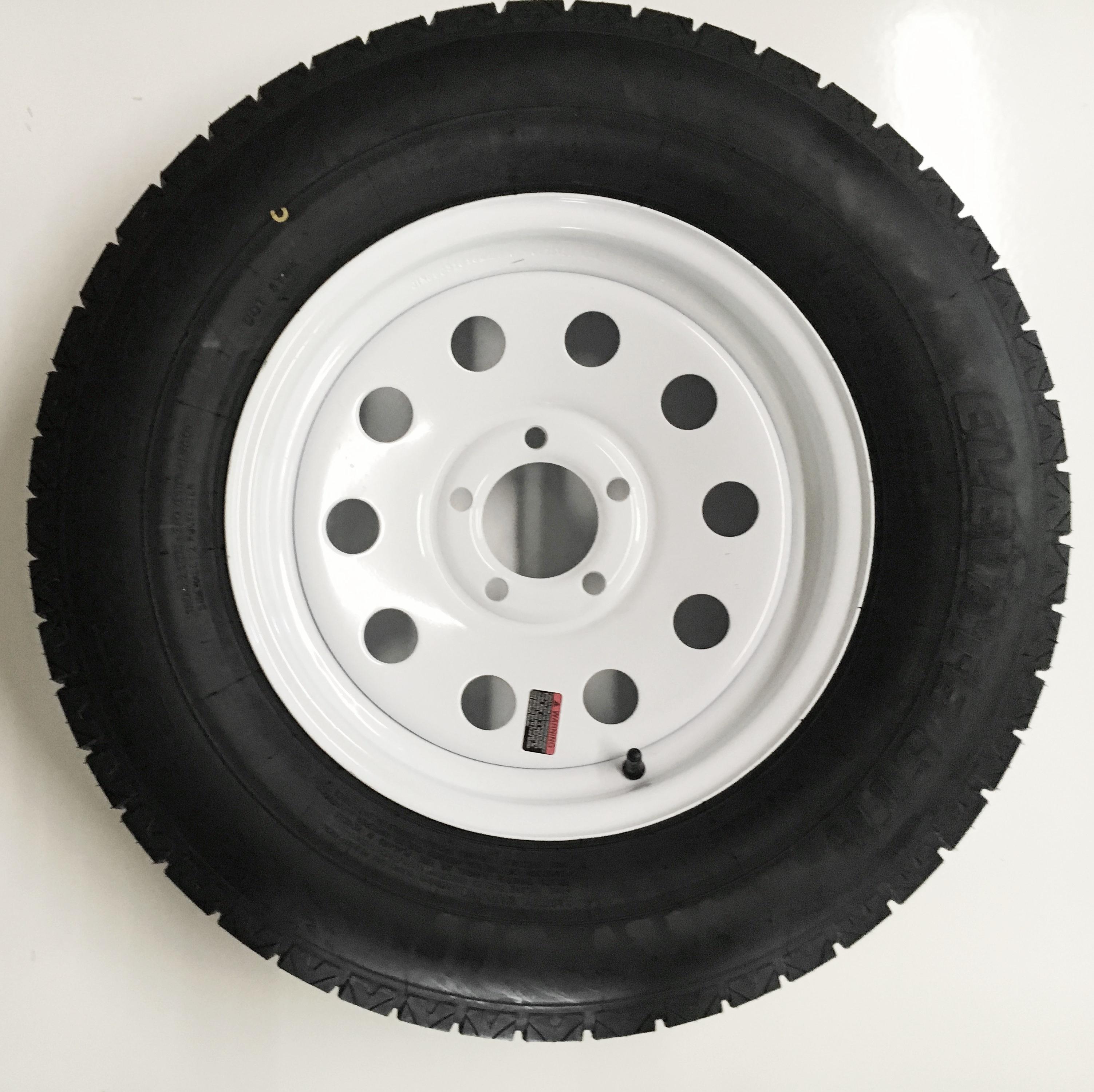 2 Pack Goodyear Endurance Trailer Tire On Rim St205 75r15d 5 4 5