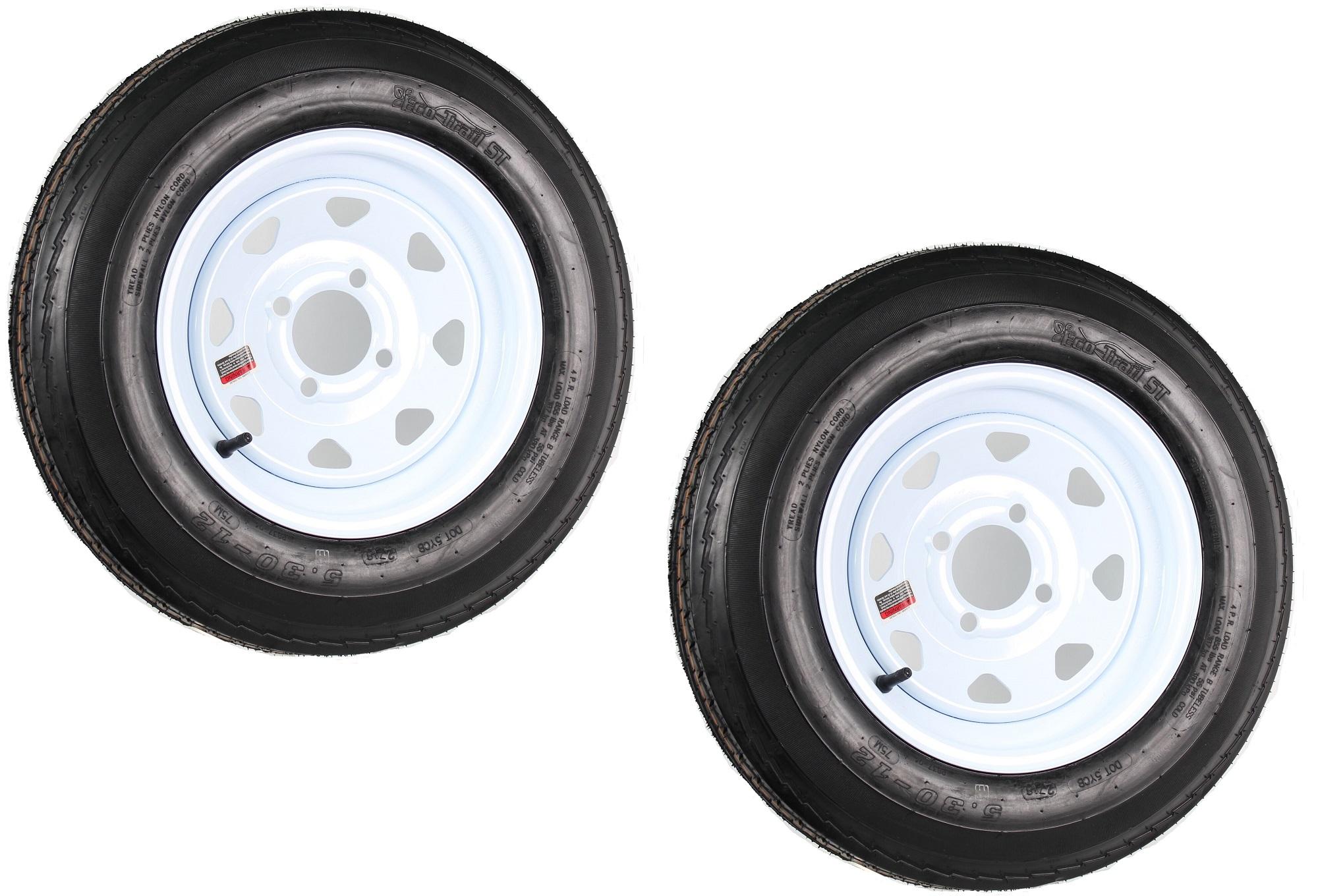 "Trailer Tire /& Rim 530 Series 5.30 X 12/"" C Range 5 Lug"