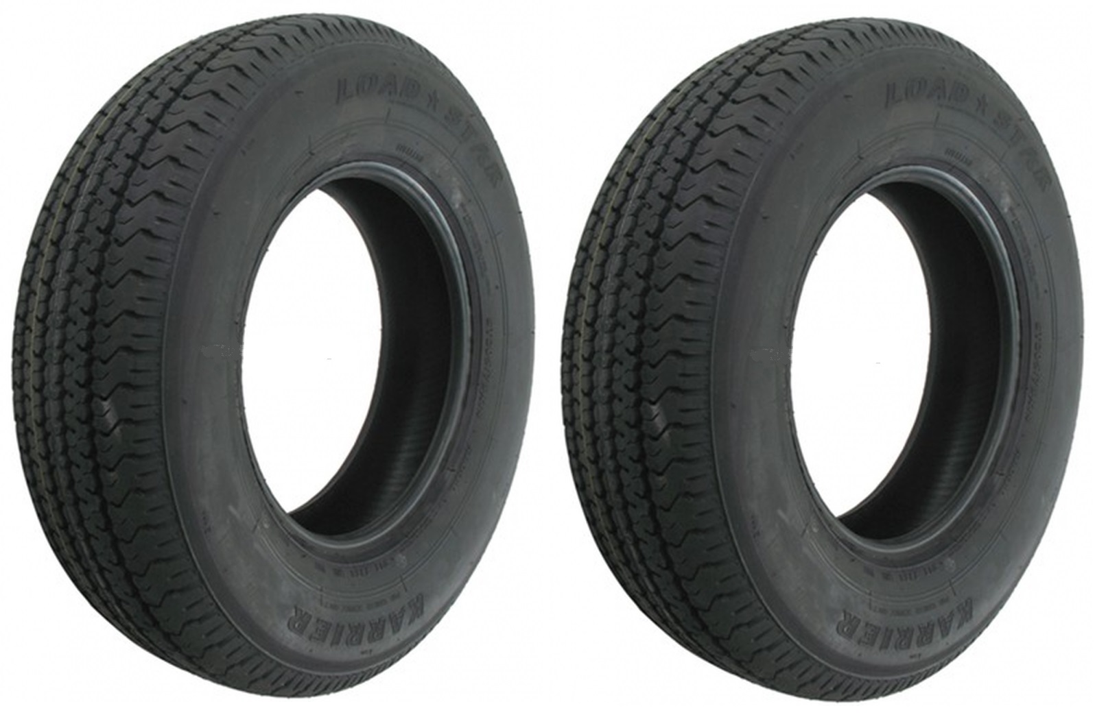 2 Pack Radial Trailer Tires St205 75r14 St 205 75 R 14 In Load