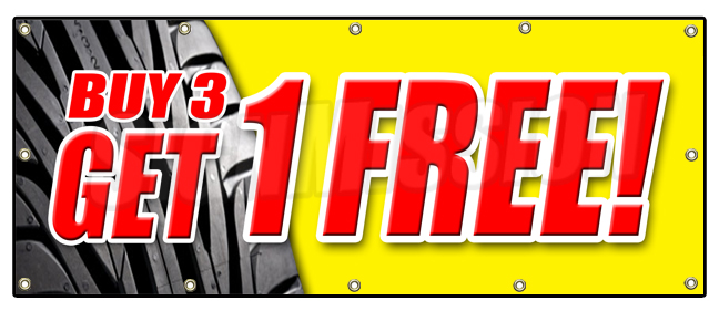 Buy 2 tires get two free - Kobo discount coupon