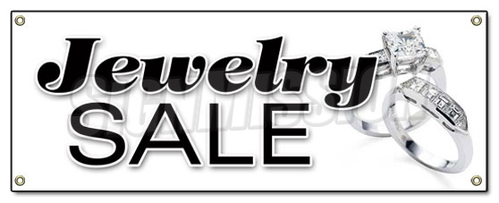 jewelry sale jewelry sale banner sign signs store jeweler 50 save 486