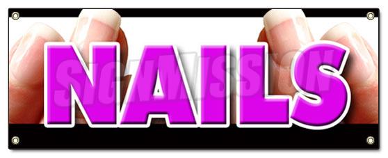 Nails Banner Sign Nail Salon Manicure Spa Signs Manicurist