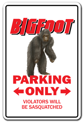 Sasquatch Mating Season 12 inch by 12 inch metal sign Bigfoot Outdoor//Indoor