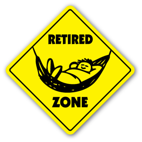 Retired Zone Sign Xing Gift Novelty Things To Do Golf