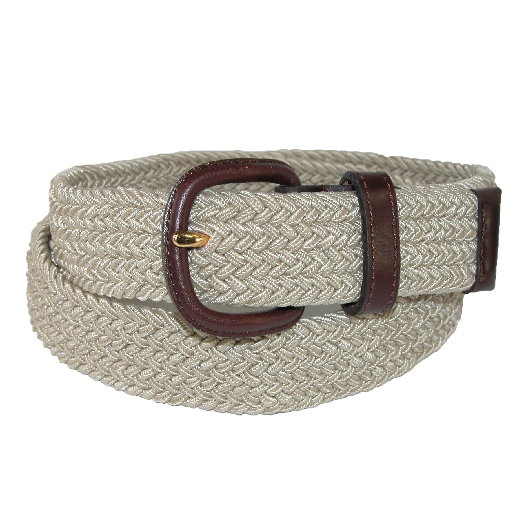Aquarius Mens Elastic Stretch Belt With End Tabs (big & Tall Available)