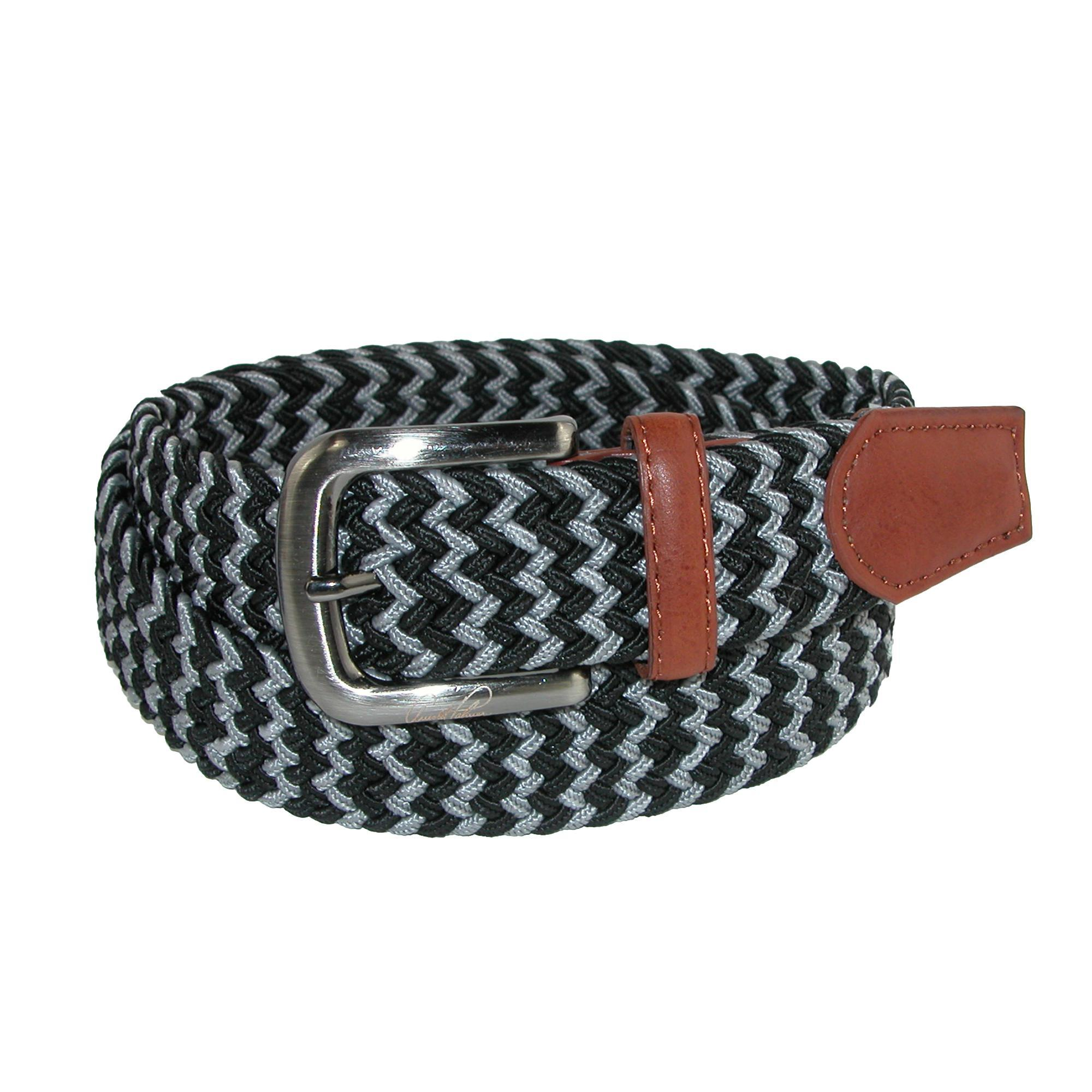 Arnold Palmer Mens Tubular Elastic Braided Belt
