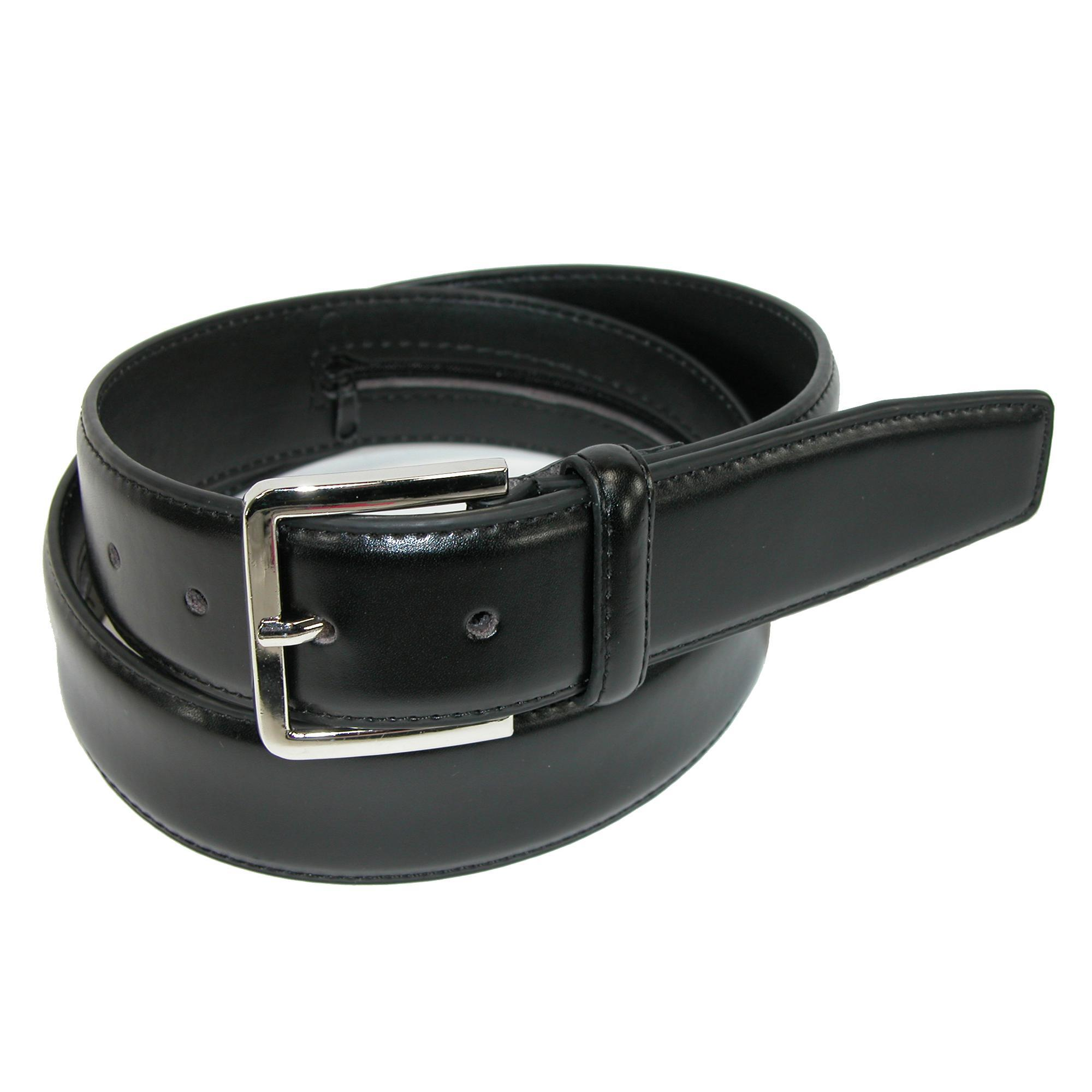 CTM_Mens_Leather_Travel_Money_Belt_Large_Sizes_Available_