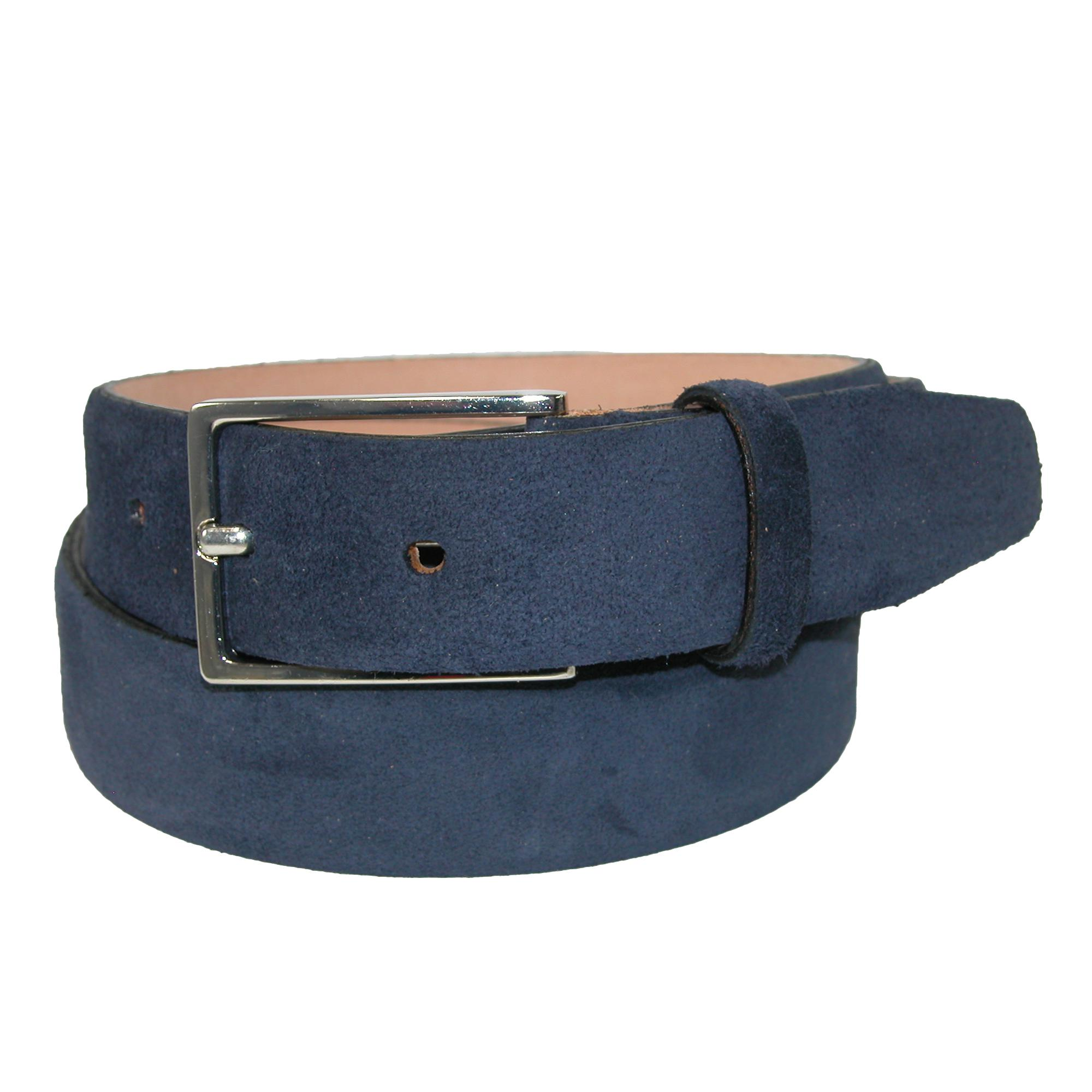 The British Belt Company Mens Stratton Italian Suede Feather Edge 30mm Belt