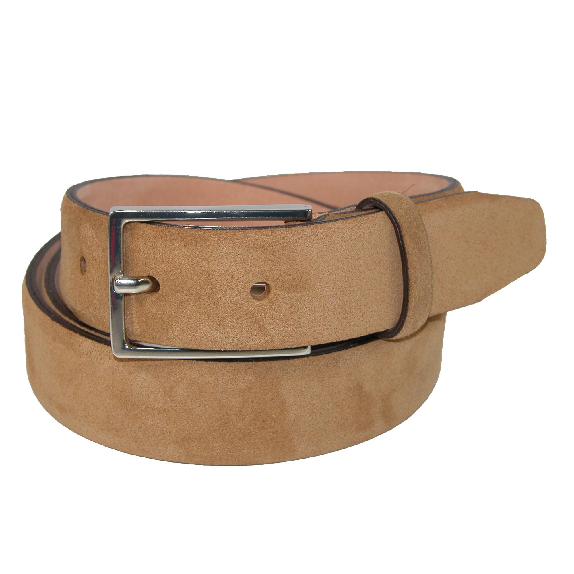 The British Belt Company Mens Stratton Italian Suede Feather Edge 30mm Belt