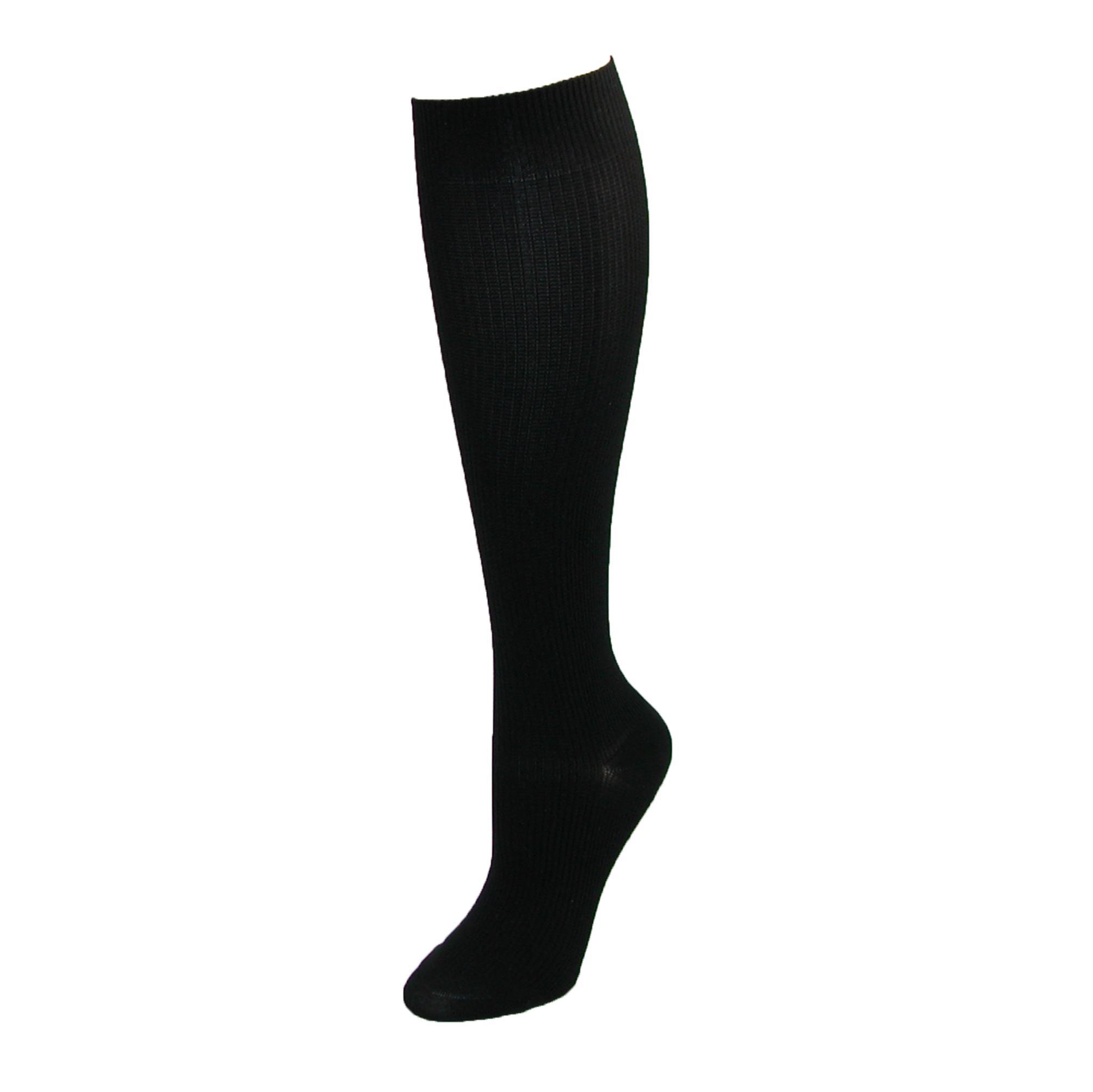 Think Medical Womens Plus Size Compression Knee High Socks (3 Pair Pack)