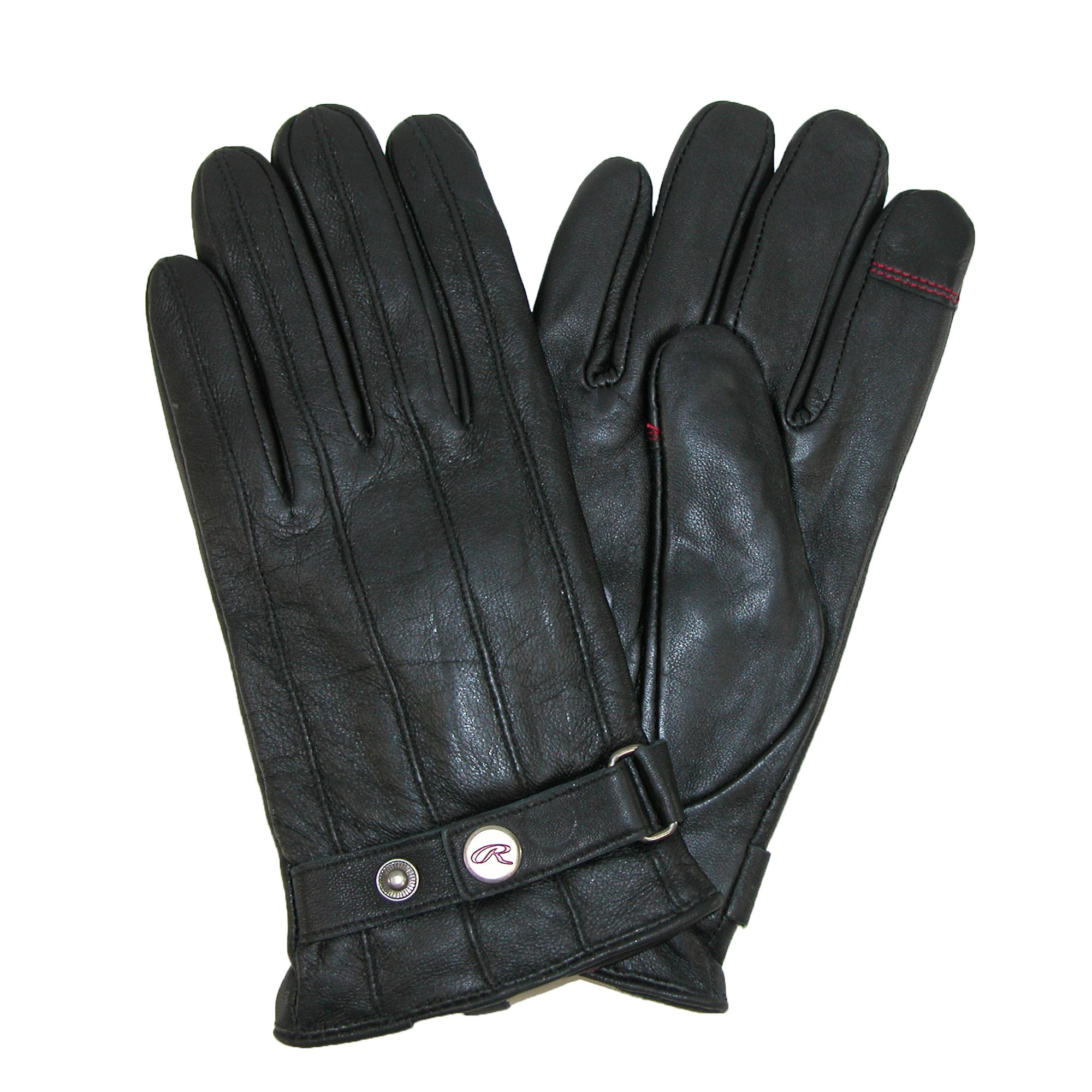 Rawlings Mens Lamb Leather With Adjustable Wrist Strap Touch Screen Glove