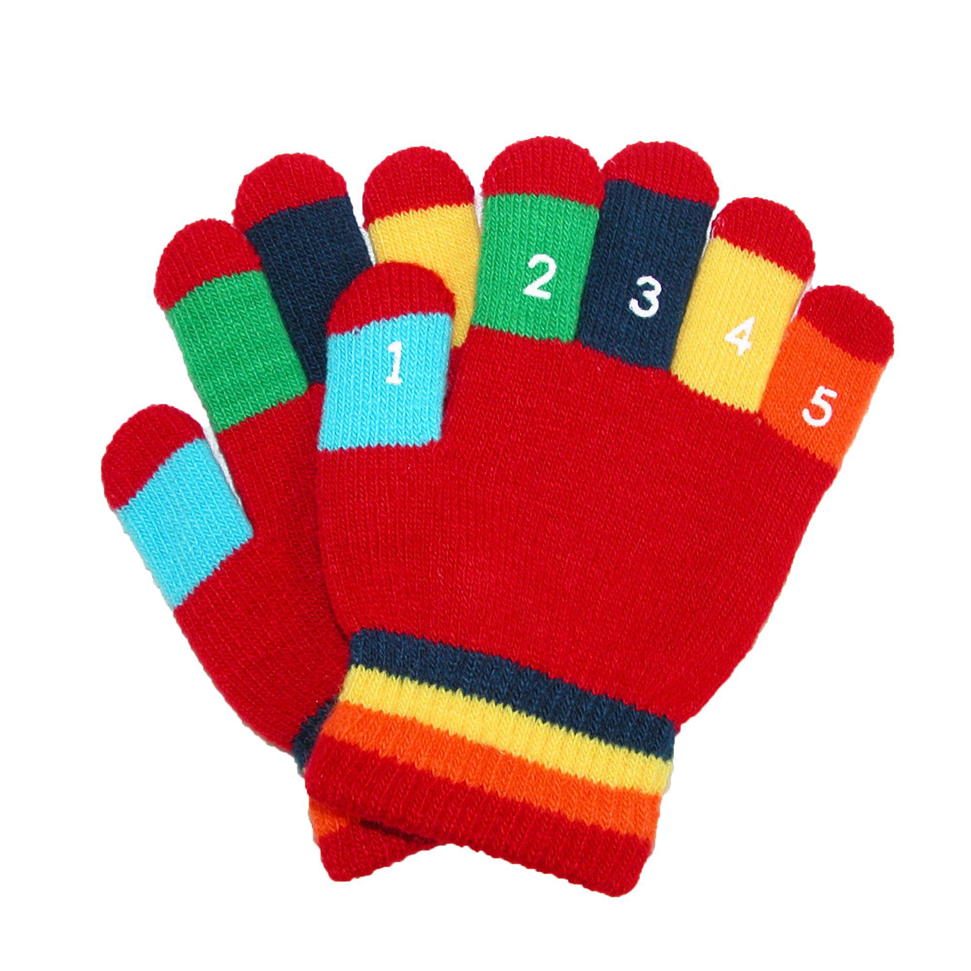 Dark Pink Grand Sierra Toddler 2-4T Knit Stretch Counting Gloves