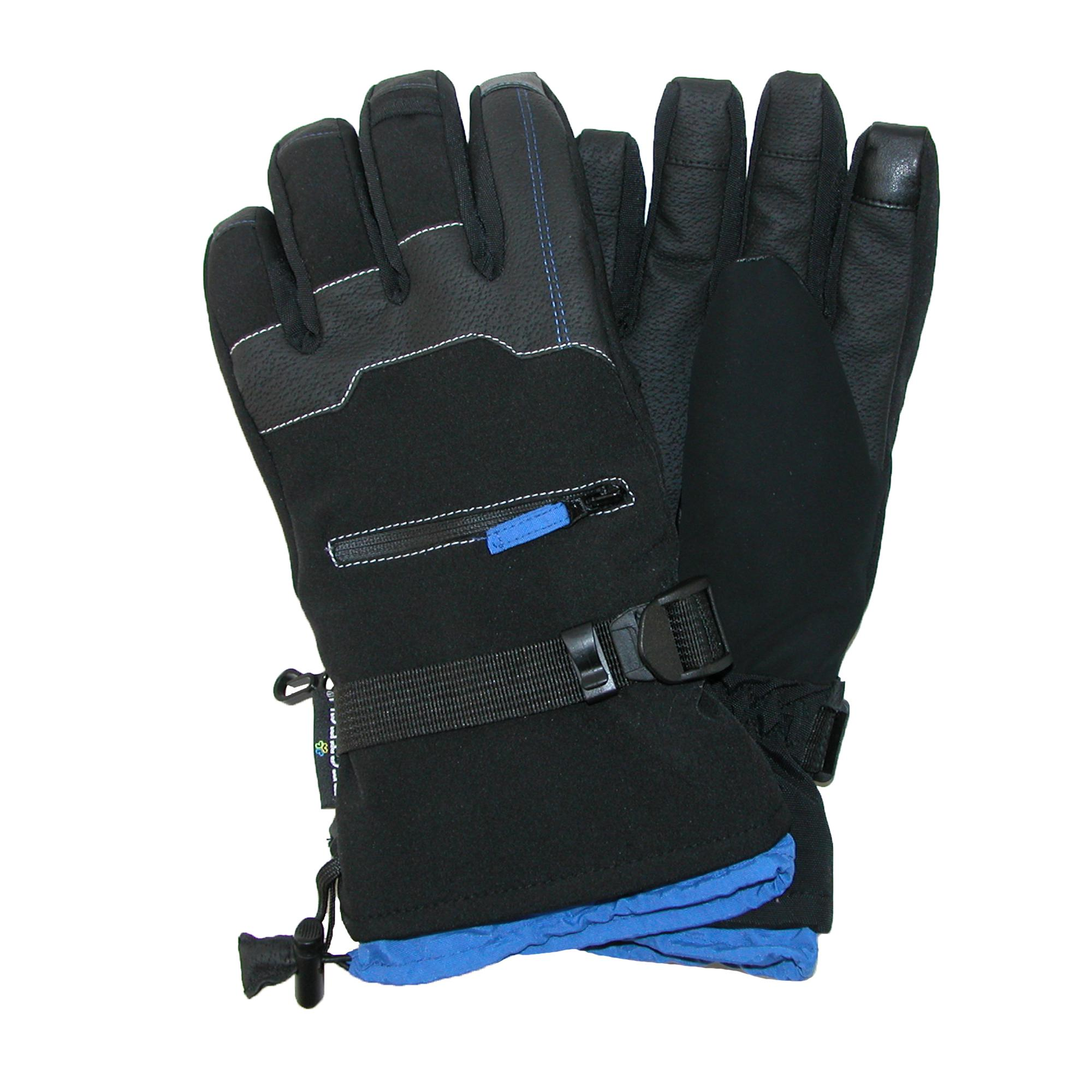 Grand Sierra Mens Bec-tec Texting Snow Glove With Zippered Pocket