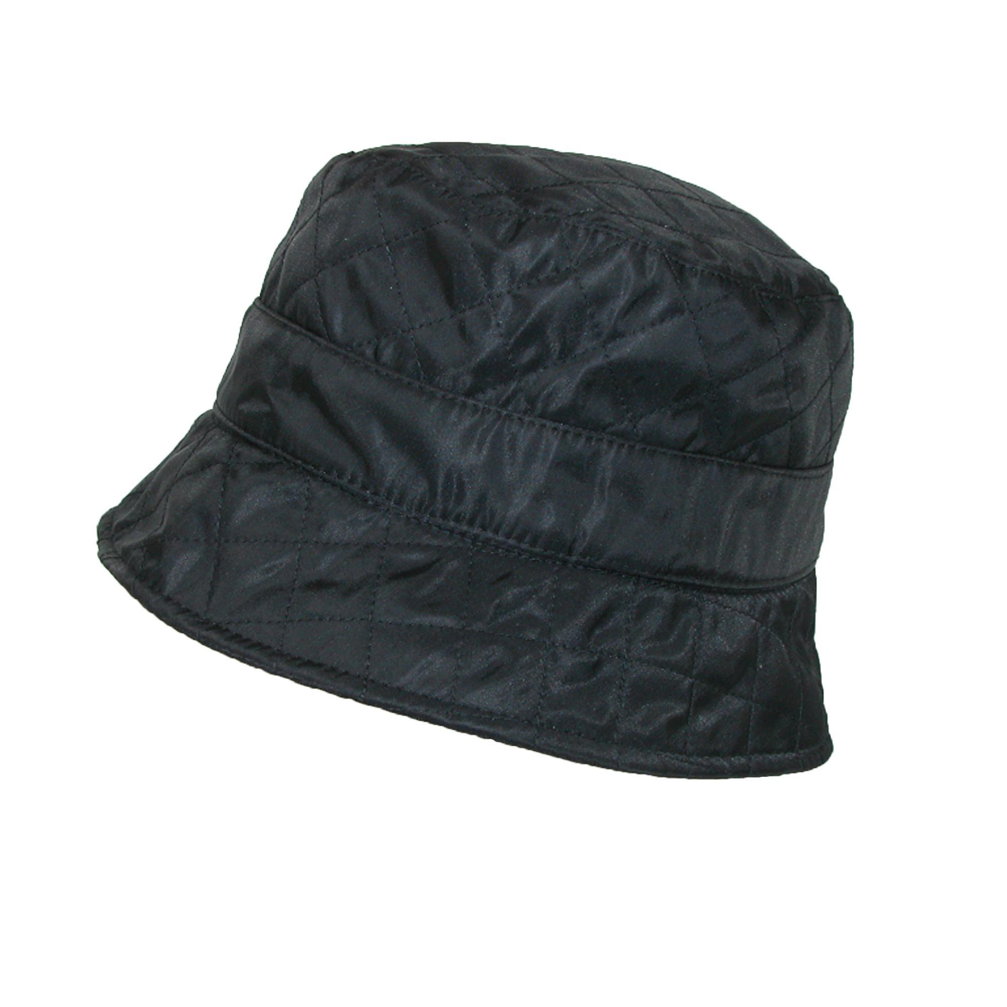03c0145c3a3 Details about New Betmar Women s Nylon Quilted Waterproof Bucket Rain Hat