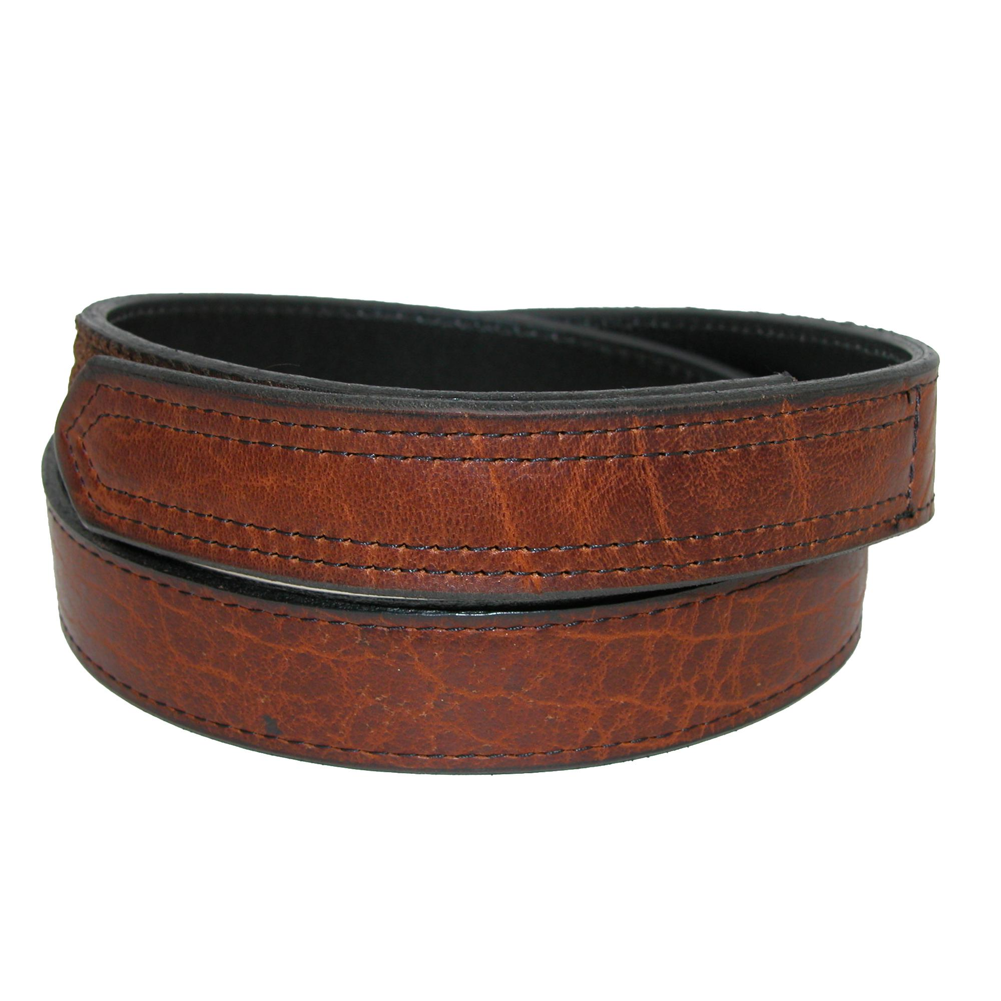Boston Leather Men's Big & Tall Bison Leather Hook And Loop Mechanics Belt
