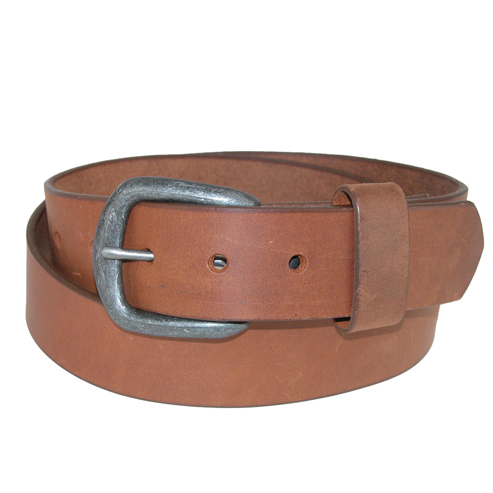 Boston Leather Men's Copper Explorer Pull Up Leather Bridle Belt