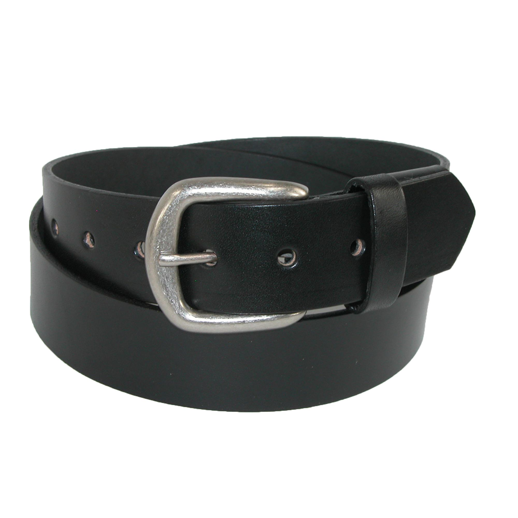 Boston Leather Men's Lincoln Leather Bridle Belt With Hidden Elastic