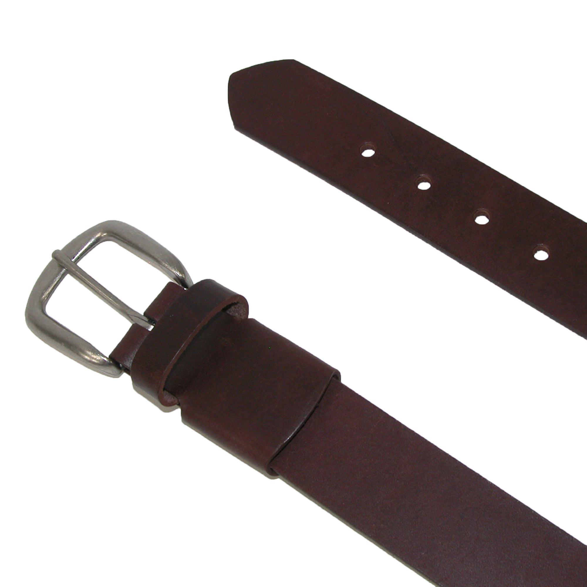 Nouveau-Boston-Leather-Men-039-s-Stretch-Cuir-Bride-Ceinture-Avec-Cache-elastique miniature 3