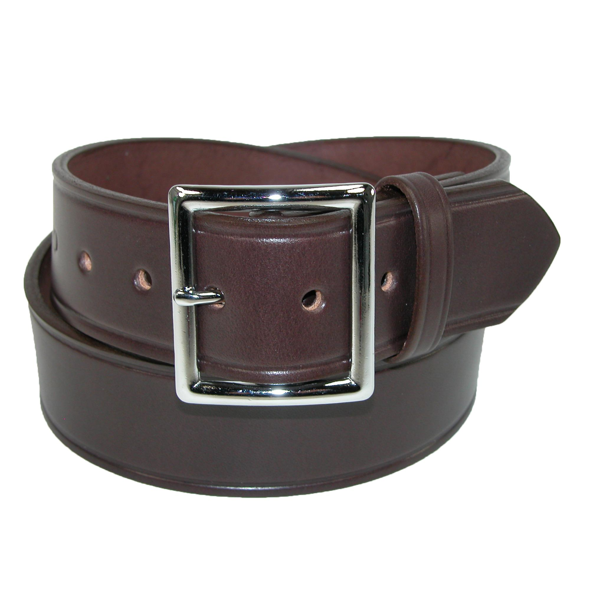 Boston Leather Men's Big & Tall Leather 1 5/8 Inch Garrison Belt