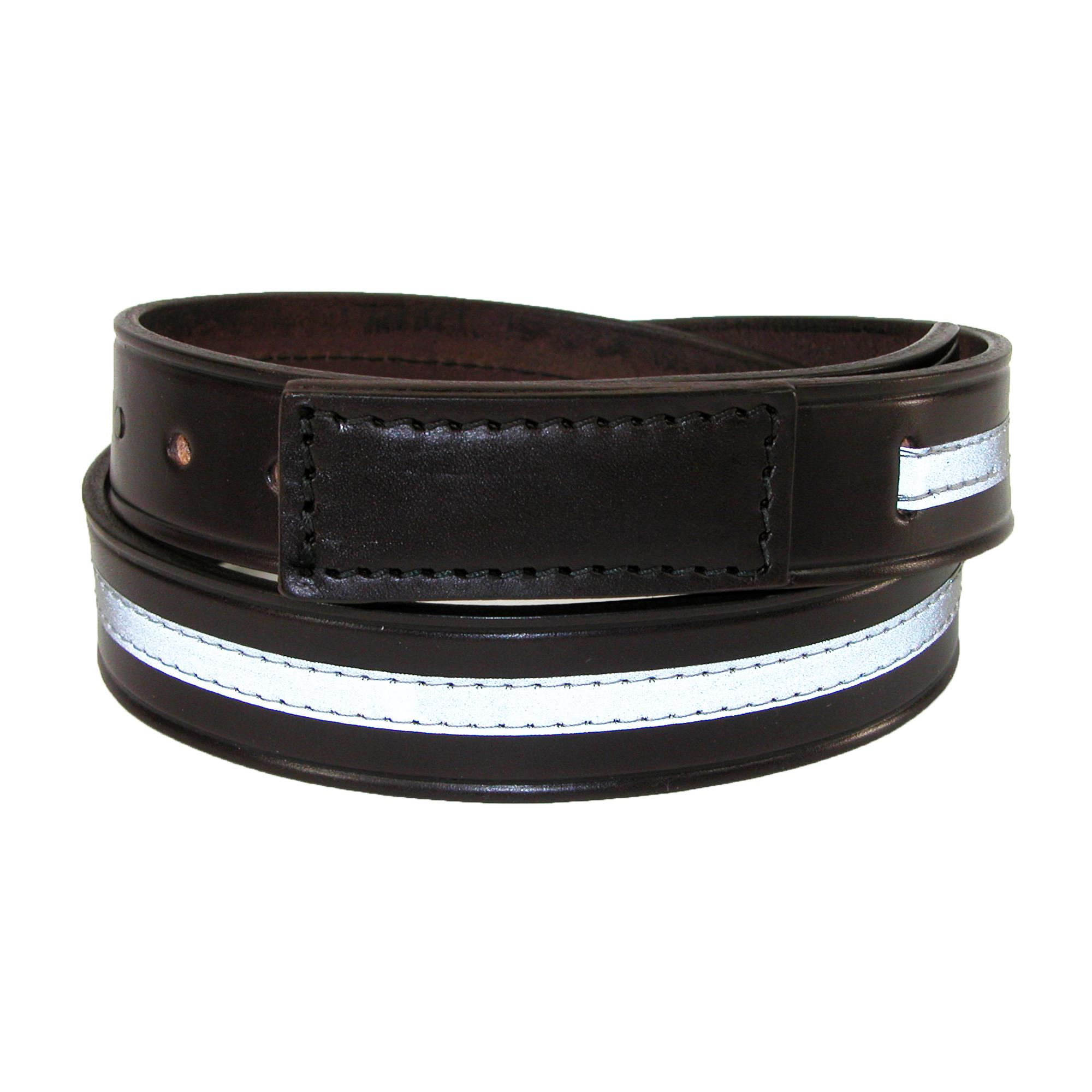 Boston Leather Men's Leather Reflective Movers & Mechanics Covered Buckle Belt