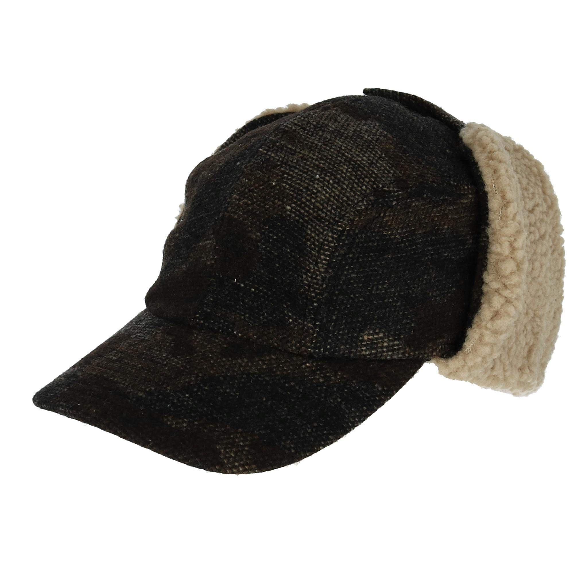 acd46dd19e8c0 Broner Men s Camo Outdoor Cap with Flannel Lining and Sherpa Ear Flaps  (BR-5413