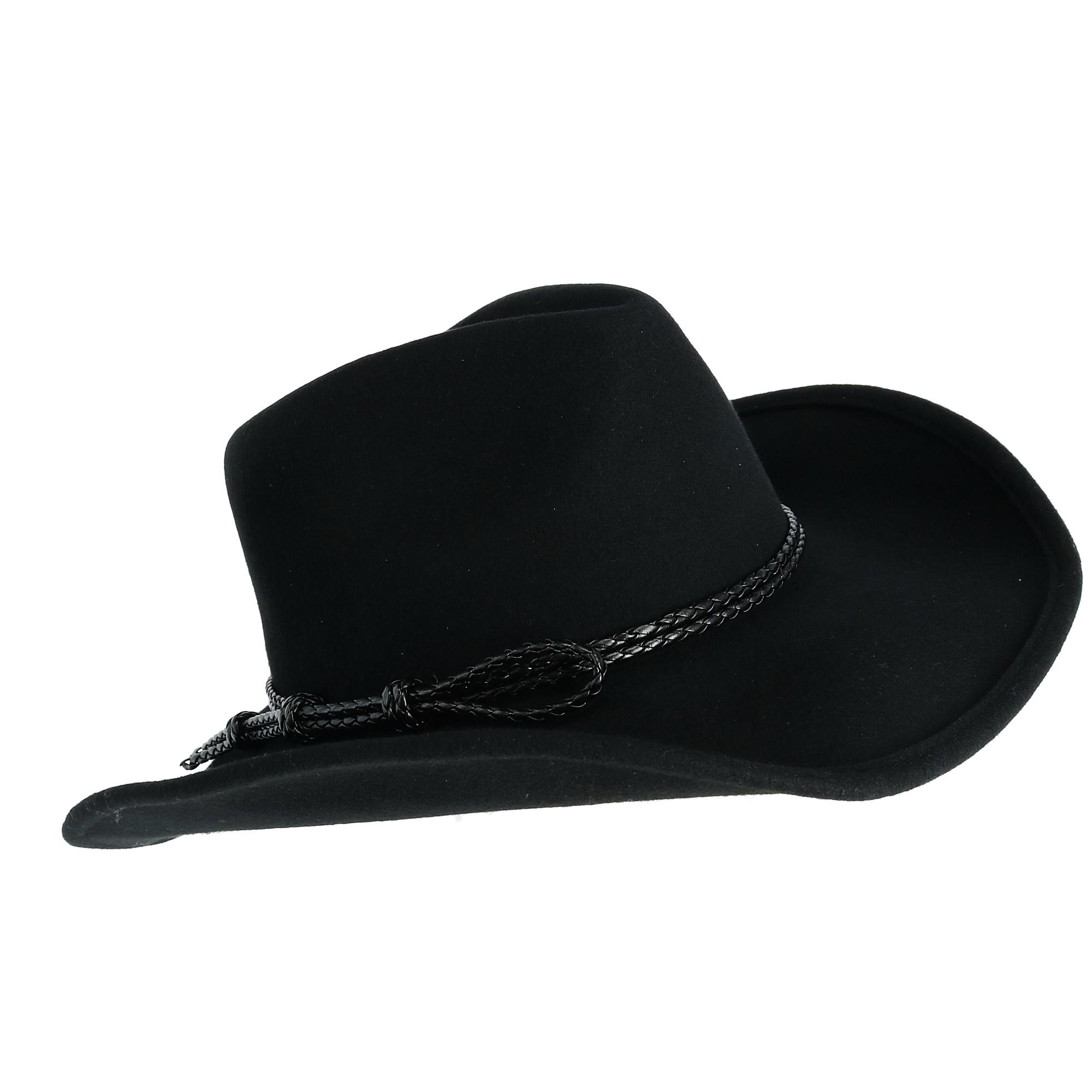 1a63942386984 Broner Men s Wool Felt Western with Braided Rope Band and Loop Detail  (BR-69151