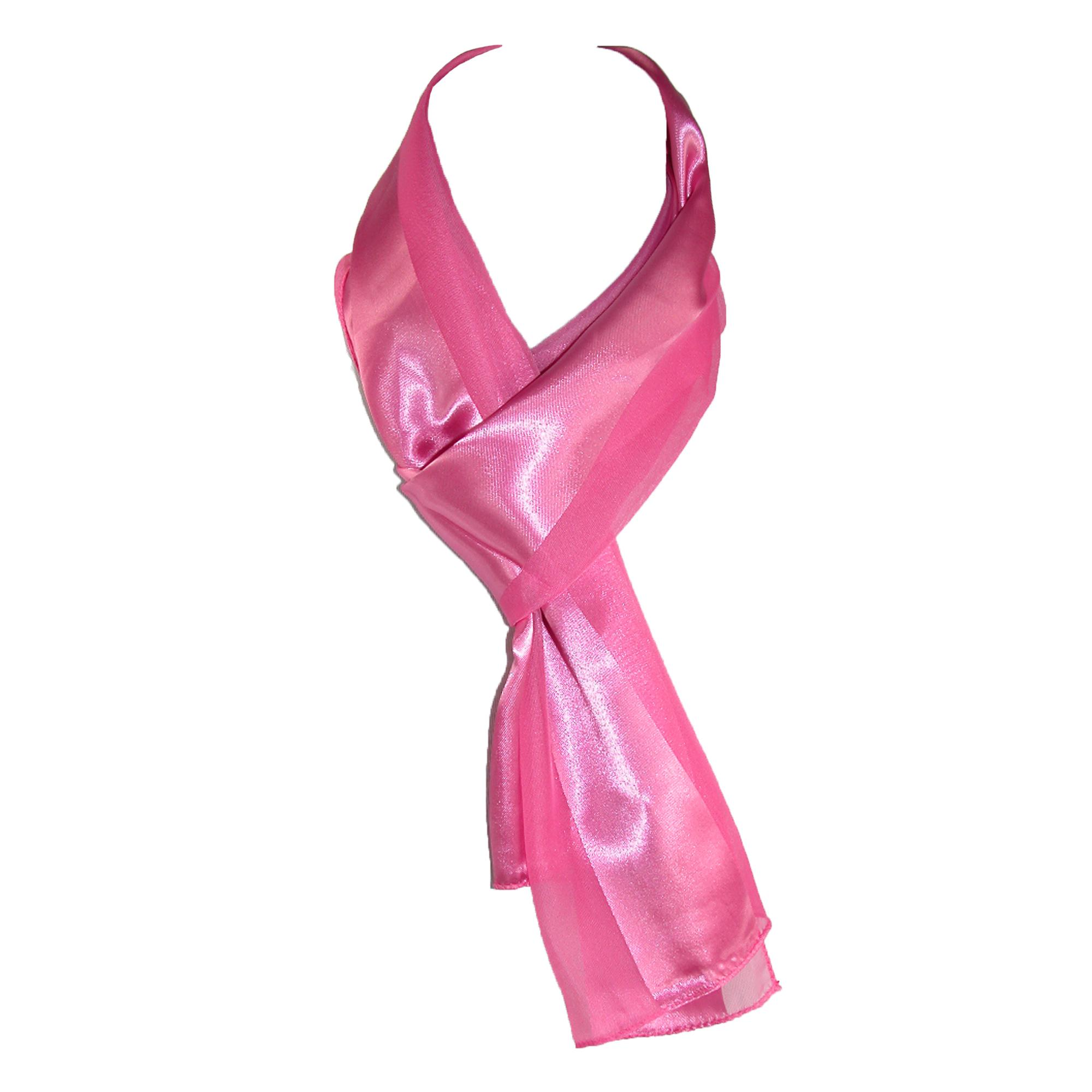 CTM_Women's_Long_Satin_Solid_Color_Scarf_-