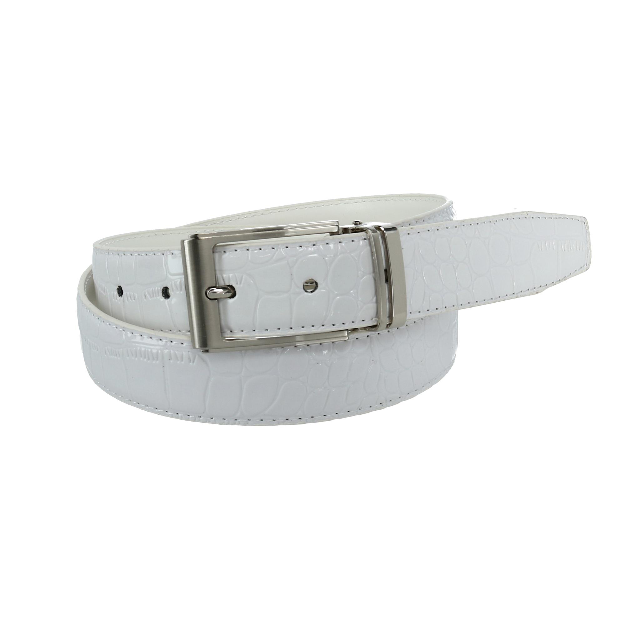 CTM_Leather_Croc_Print_Dress_Belt_with_Clamp_On_Buckle_-_White_42
