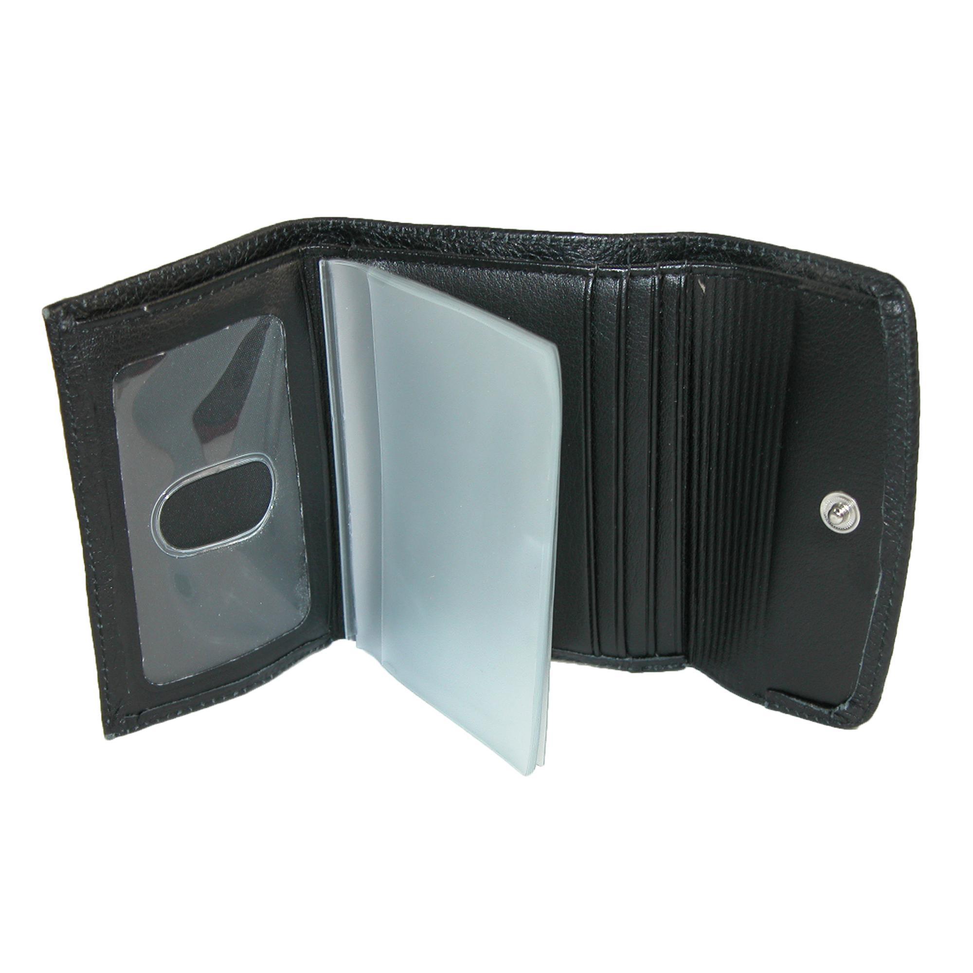 New-Buxton-Women-039-s-Leather-Mini-Tri-Fold-Wallet thumbnail 3