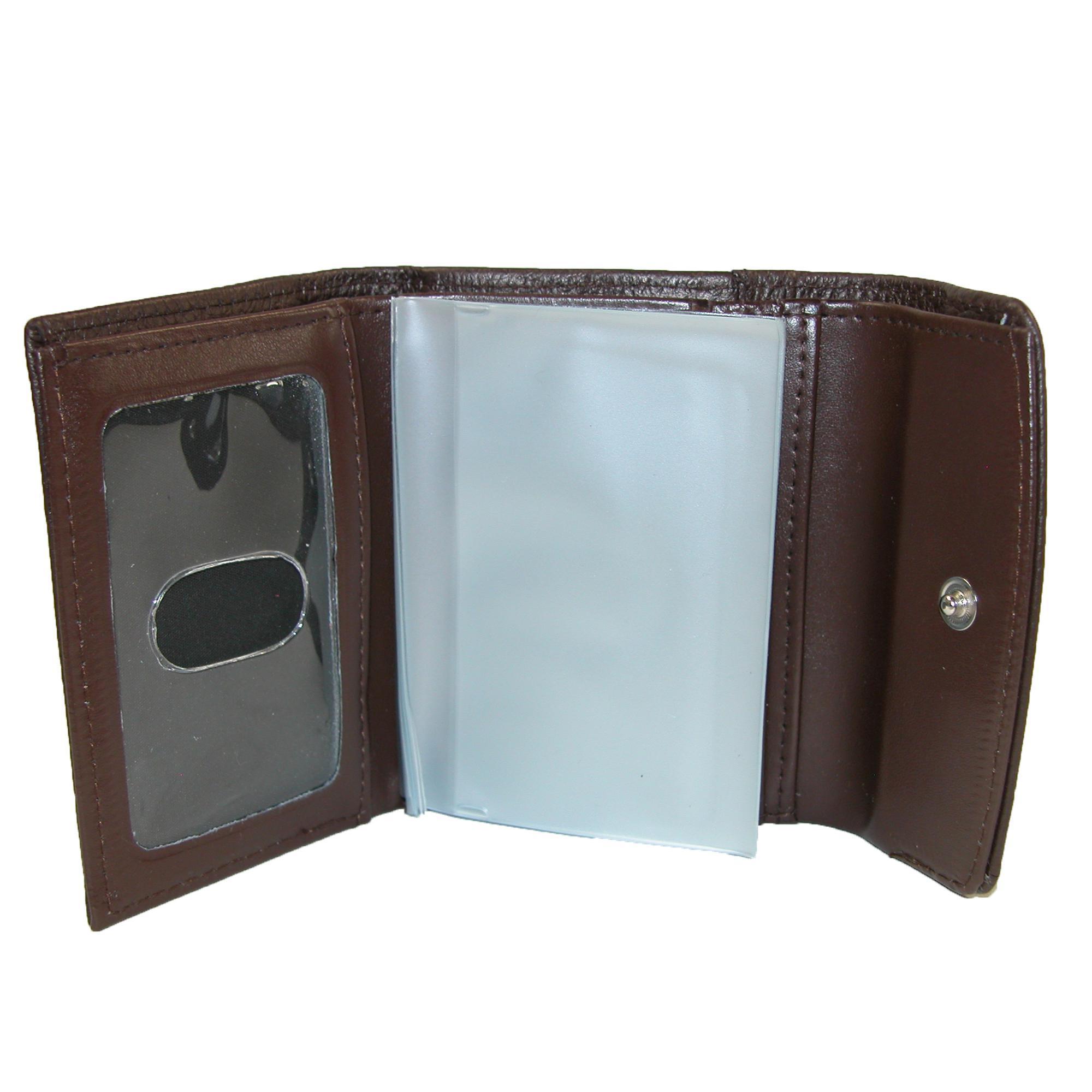 New-Buxton-Women-039-s-Leather-Mini-Tri-Fold-Wallet thumbnail 6