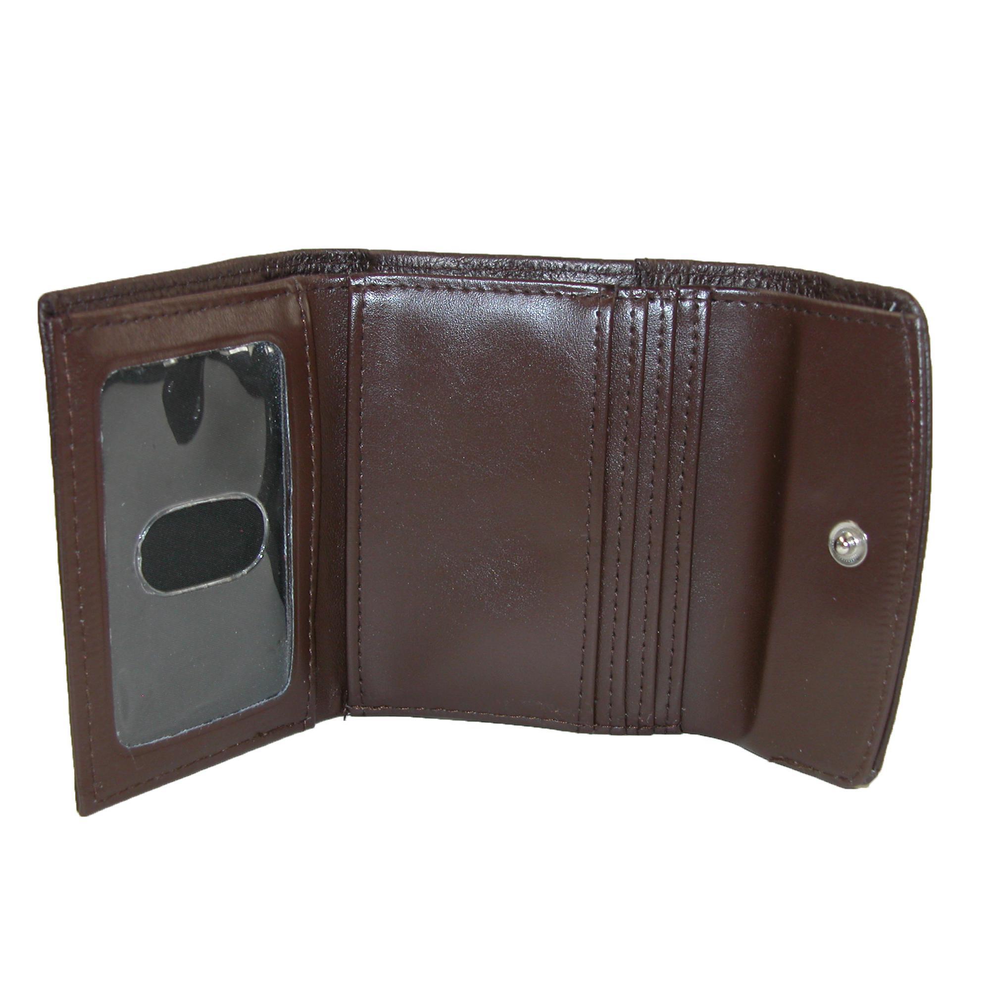 New-Buxton-Women-039-s-Leather-Mini-Tri-Fold-Wallet thumbnail 7