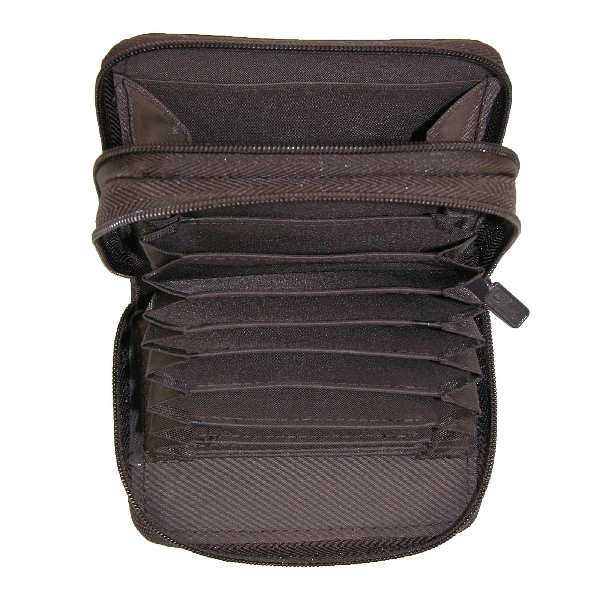 New-Buxton-Women-039-s-Leather-Mini-Accordion-Wizard-Wallet thumbnail 6