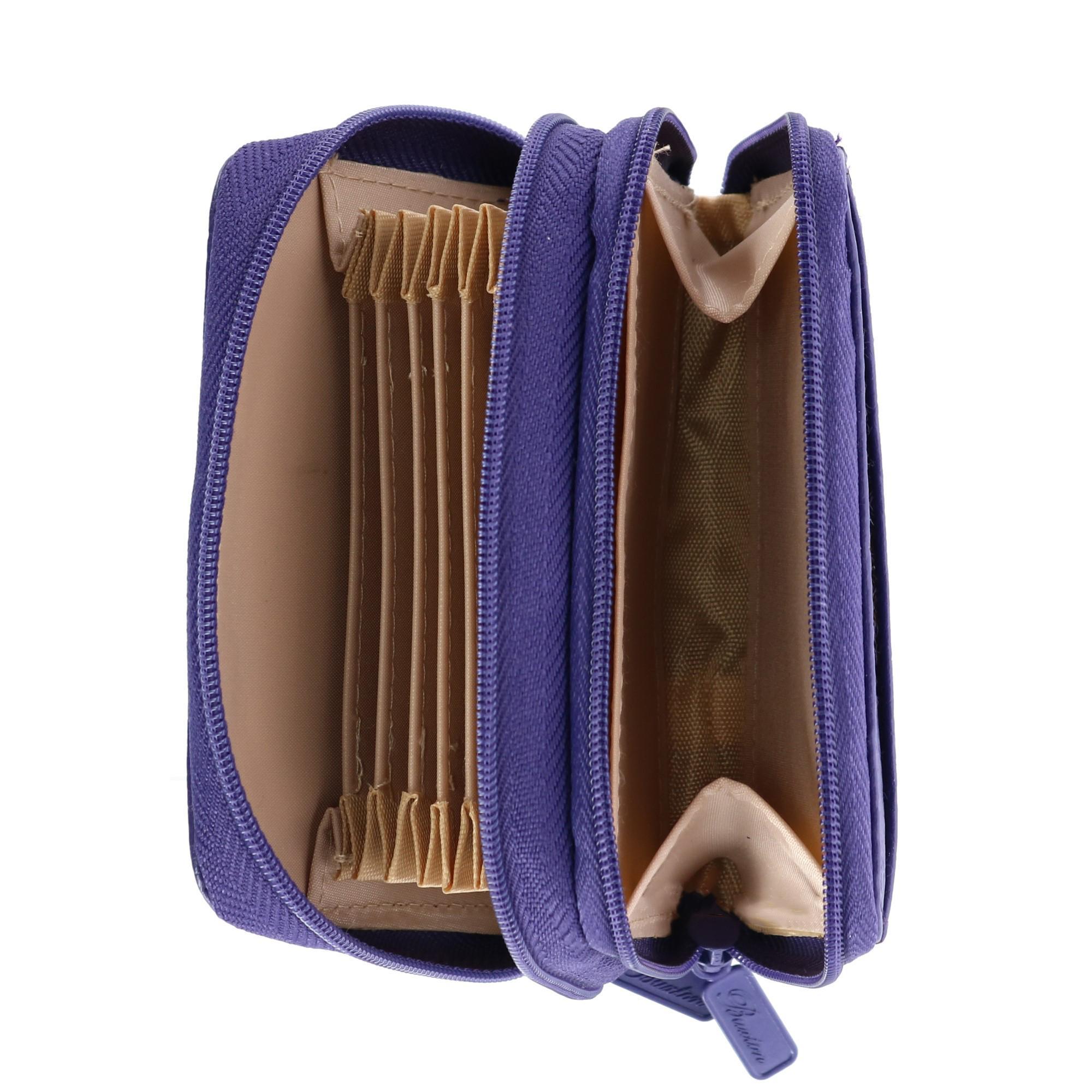 New-Buxton-Women-039-s-Leather-Mini-Accordion-Wizard-Wallet thumbnail 9