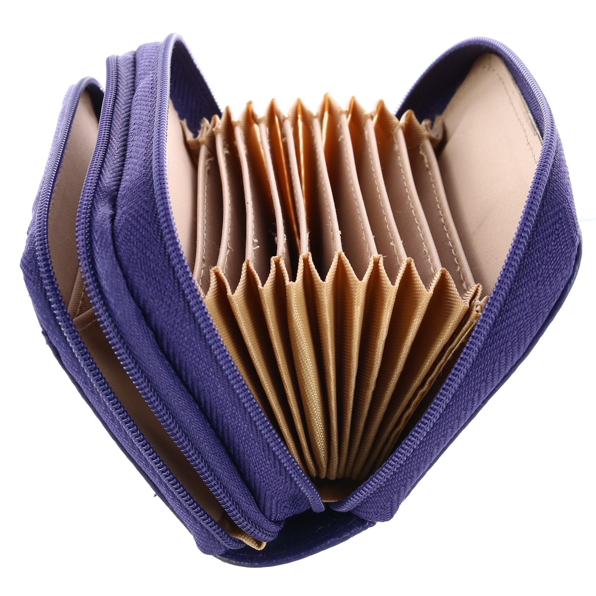 New-Buxton-Women-039-s-Leather-Mini-Accordion-Wizard-Wallet thumbnail 10