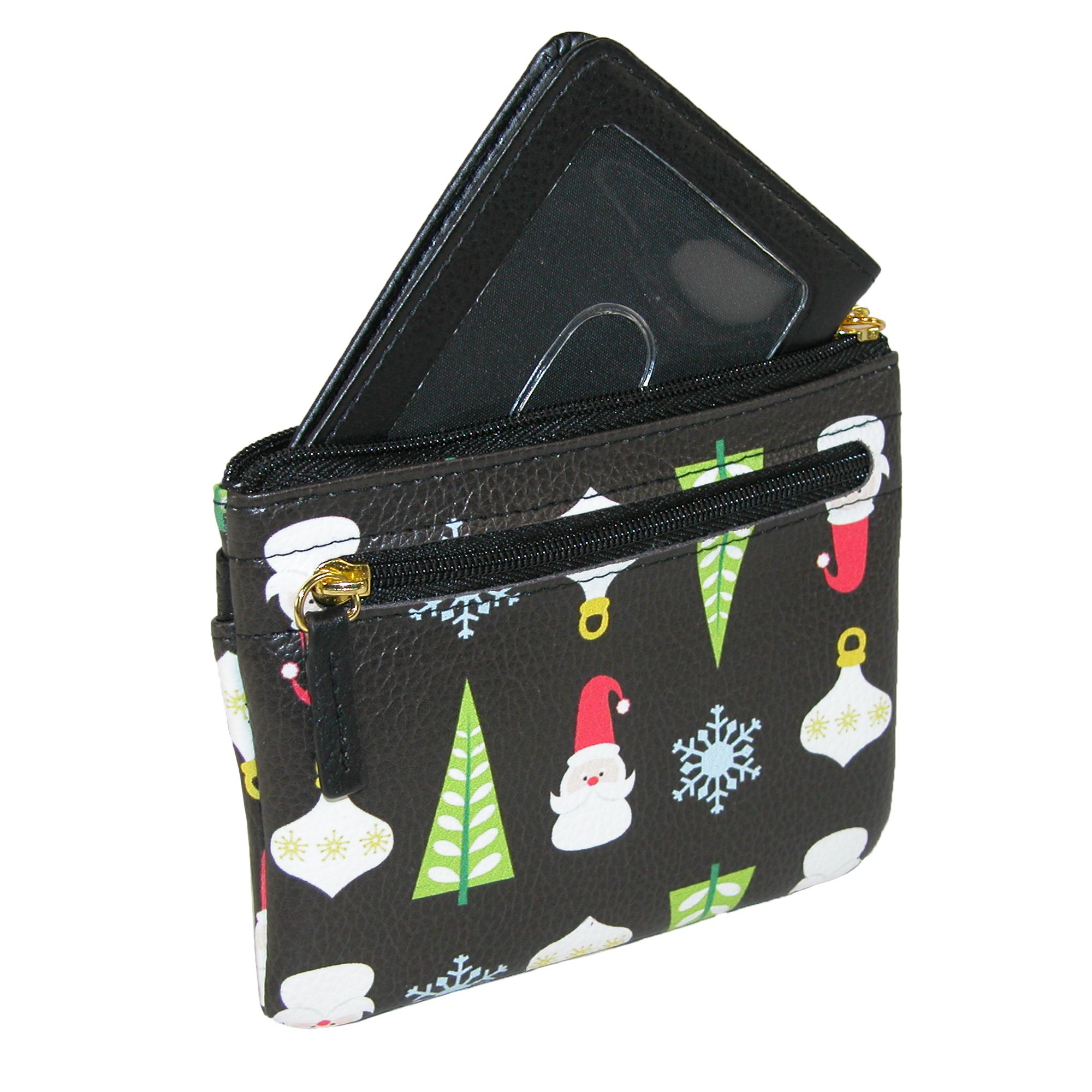 New Buxton Women\'s Holiday Christmas Coin and Card Case Wallet | eBay