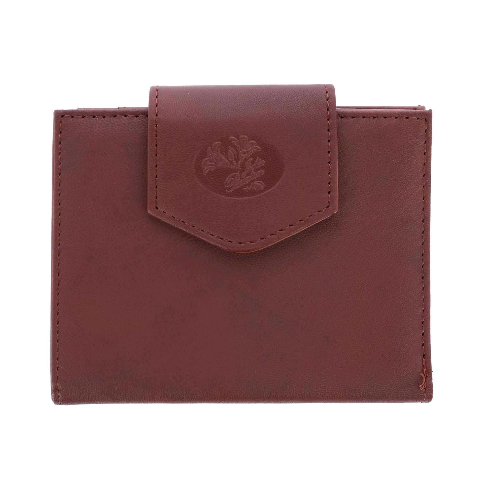 Buxton Women's Leather Attache Clutch Cardex Wallet and Coin Purse - (BX-393-55-BRN BX-393-55) photo