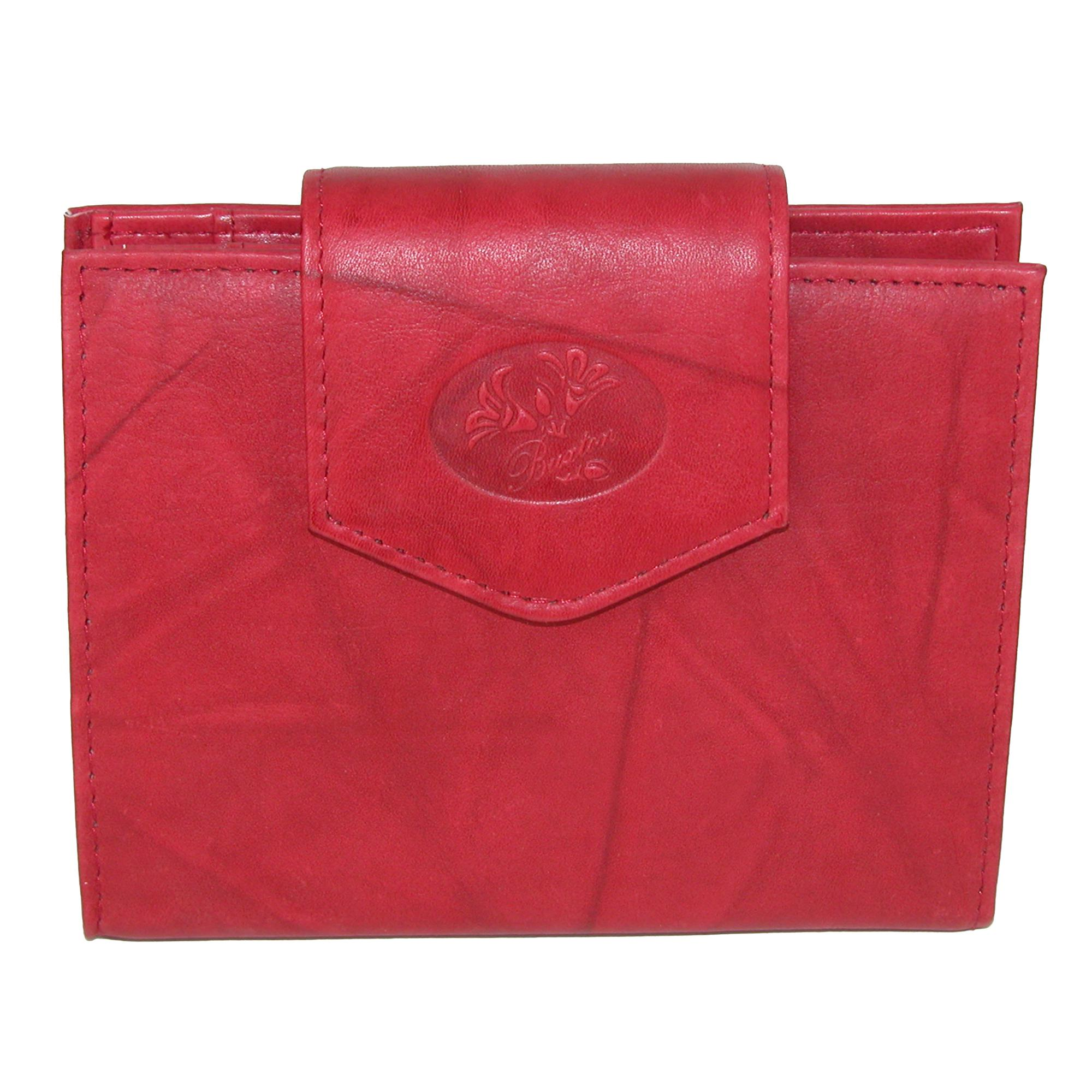 Buxton Women's Leather Attache Clutch Cardex Wallet and Coin Purse - (BX-393-55-RED BX-393-55) photo
