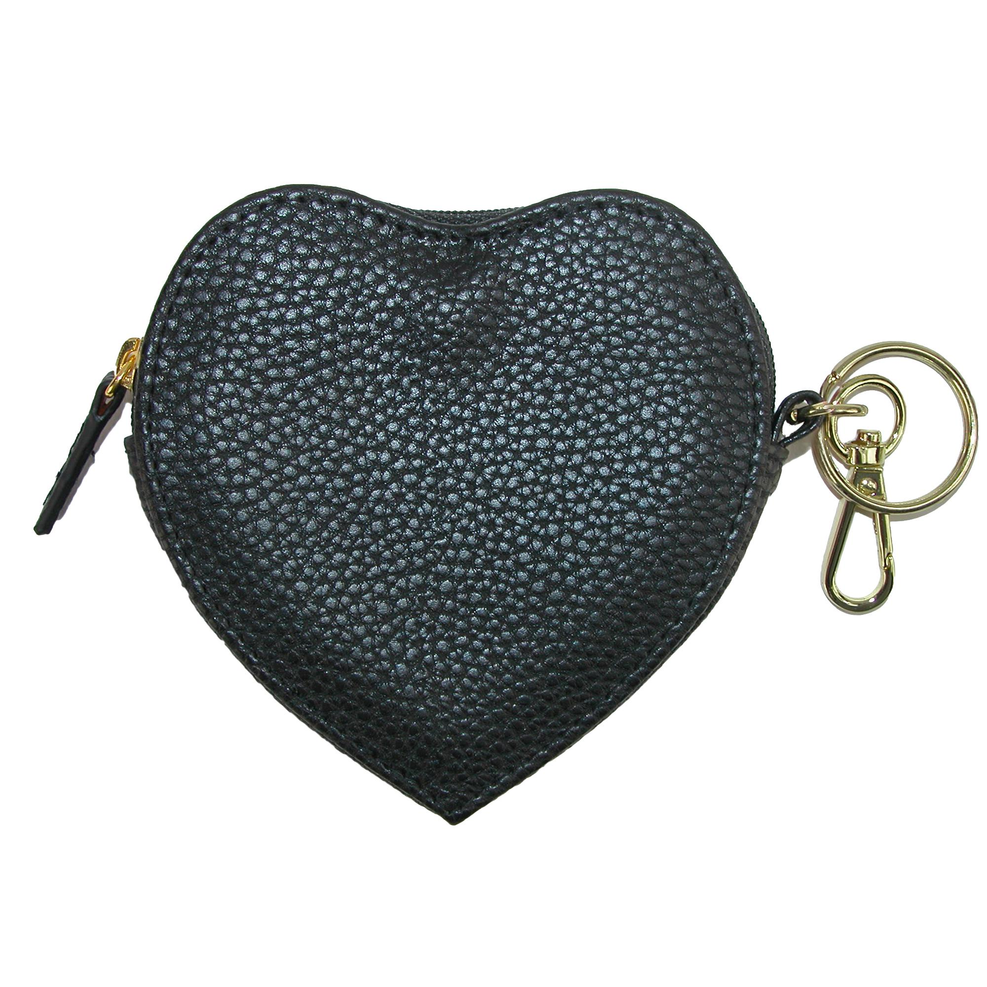 Buxton Heart Shaped Coin Purse Wallet - Black one size (BX-415W15-BLK BX-415W15) photo