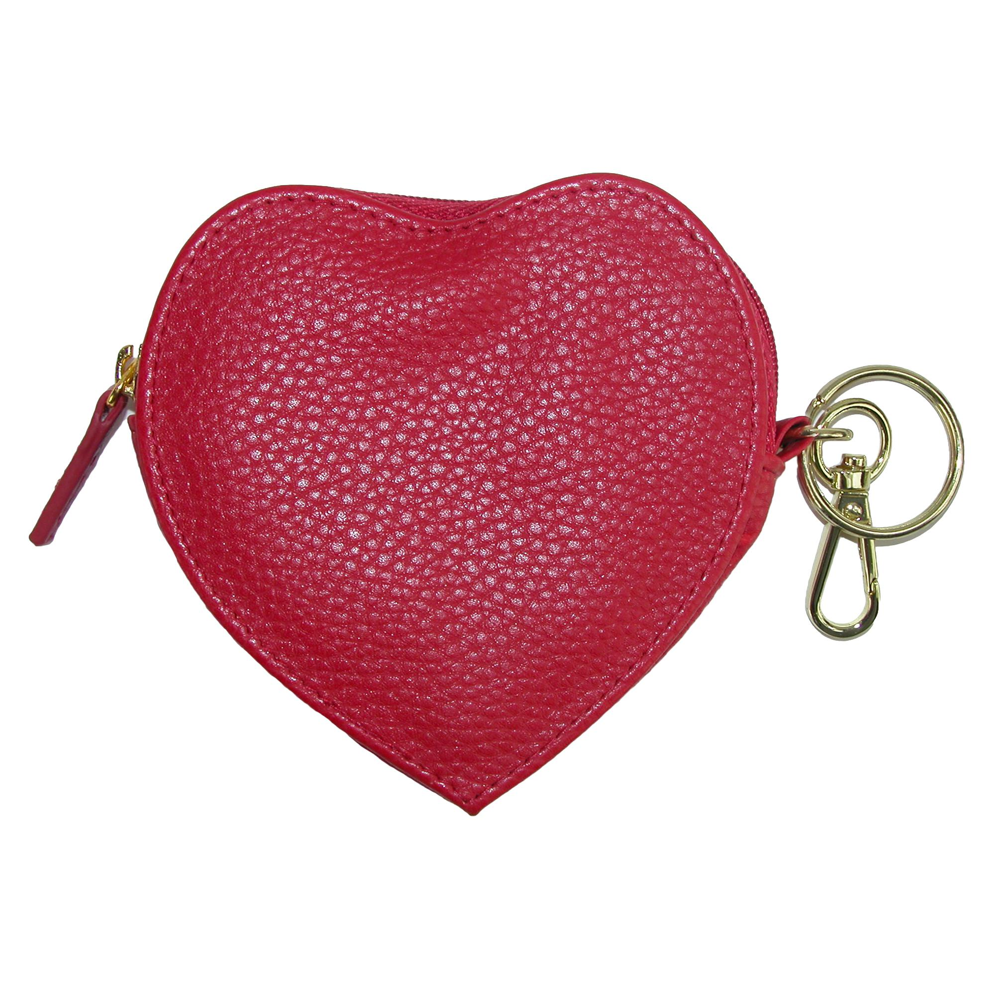 Buxton Heart Shaped Coin Purse Wallet (BX-415W15-RED BX-415W15) photo