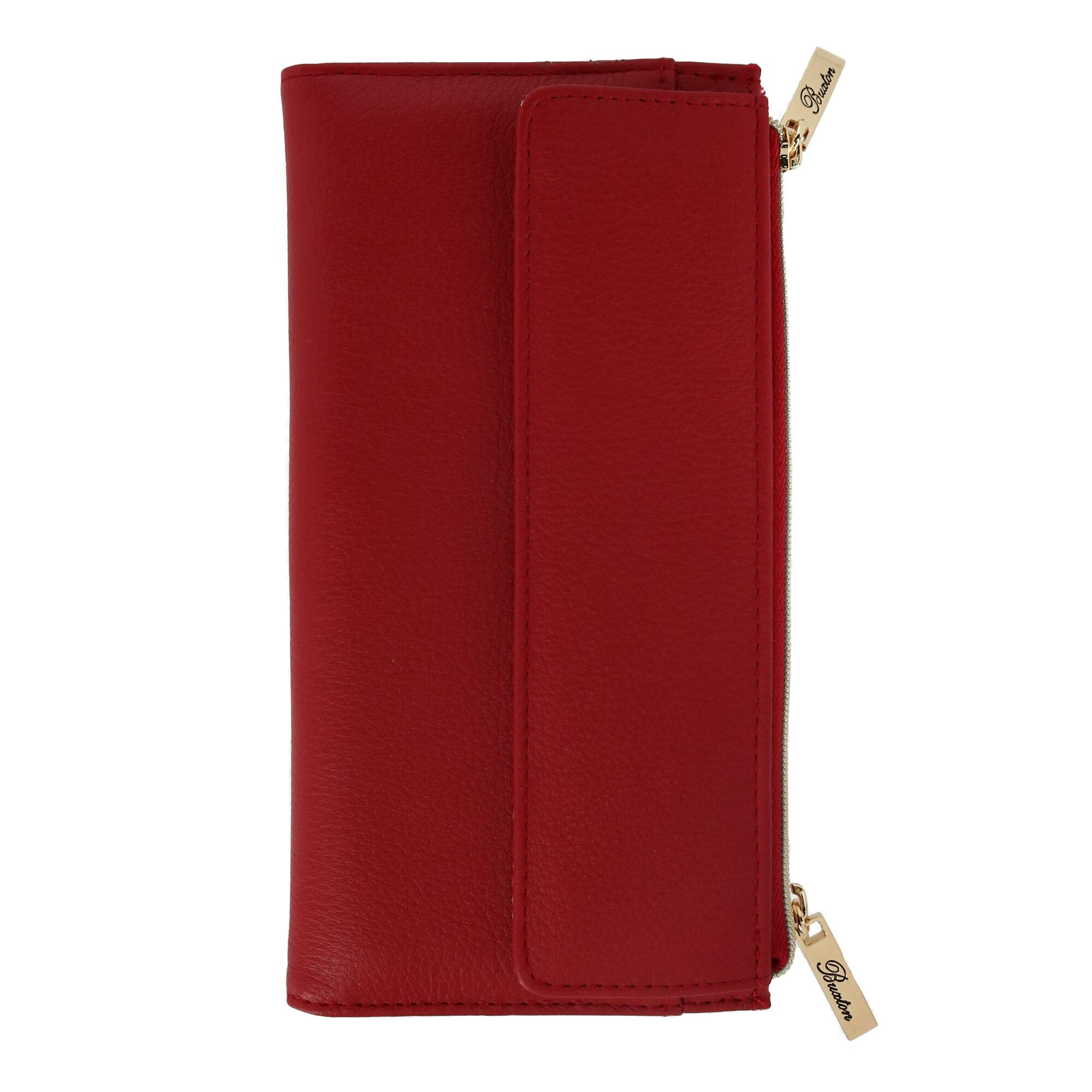 New Buxton Women's Leather Long Bifold Wallet with Snap Clos