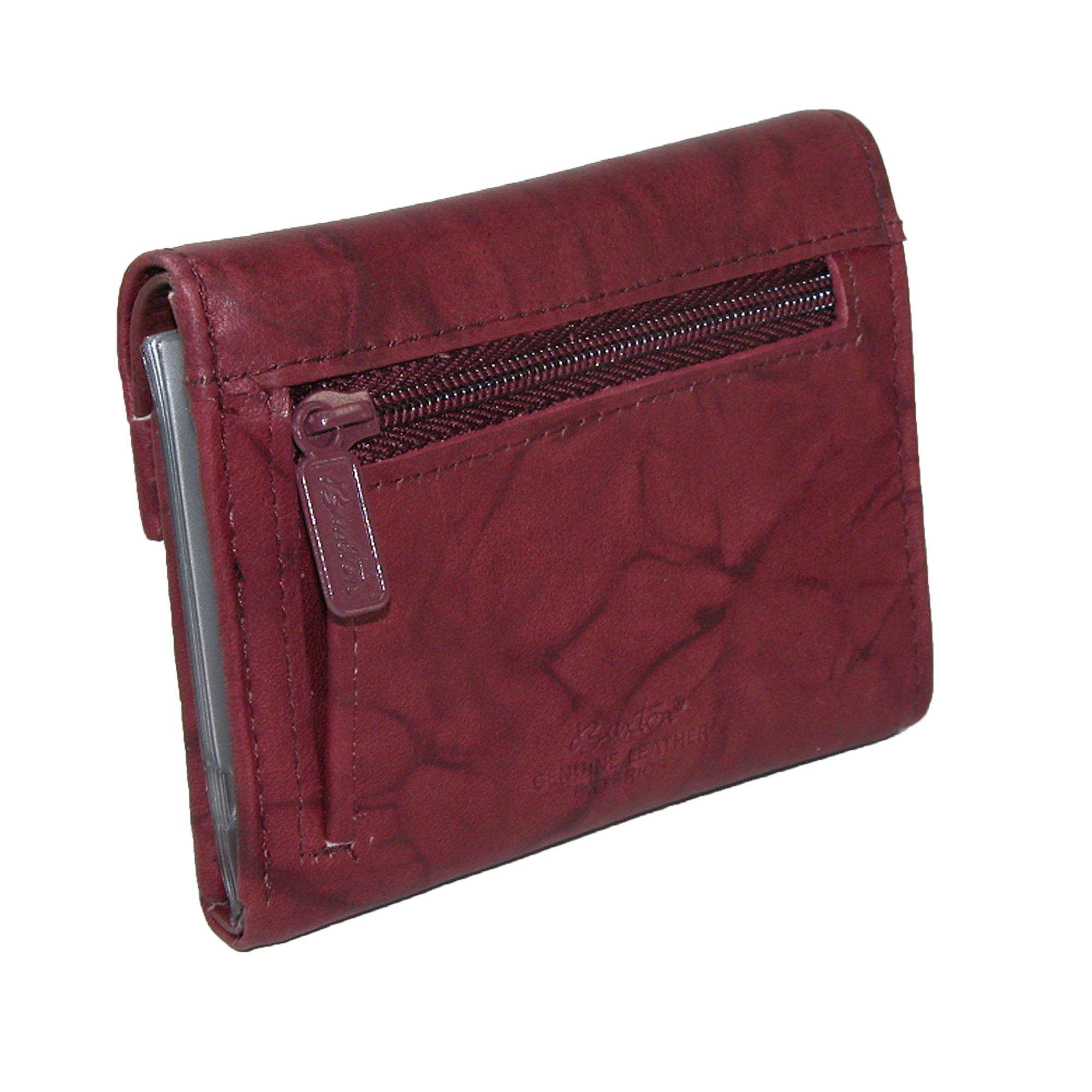 New Buxton Women s Leather Mini Trifold Wallet with Floral Emboss  167eba87f5707