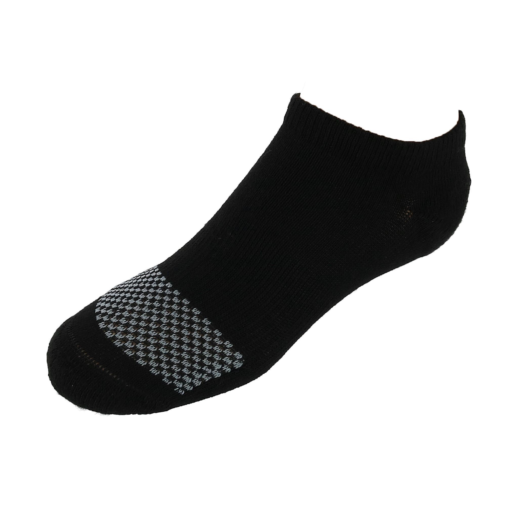 Black Hanes Boys No-Show ComfortBlend Socks 6-Pairs