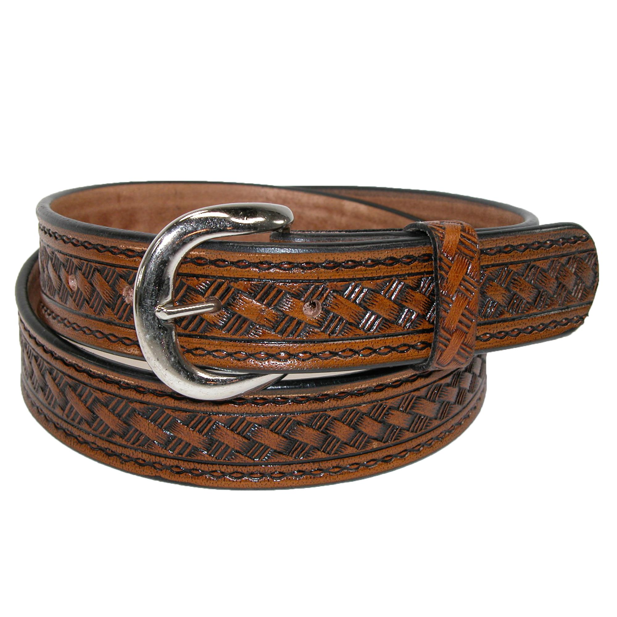 CTM_Mens_Leather_1_38_Inch_Western_Belt_with_Removable_Buckle_