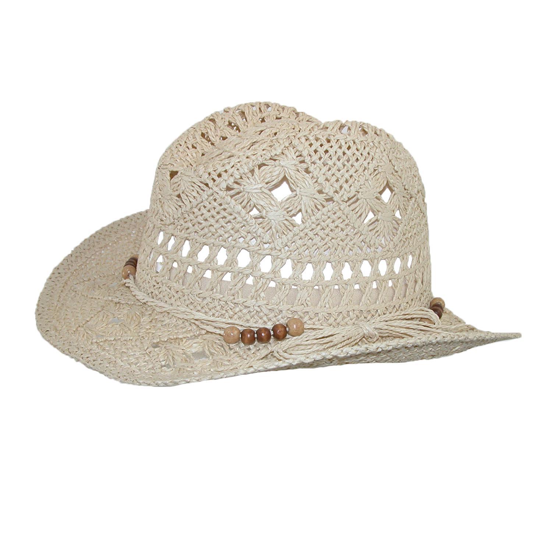 New CTM Girls' Straw Beaded Trim Cowgirl Western Hat   eBay
